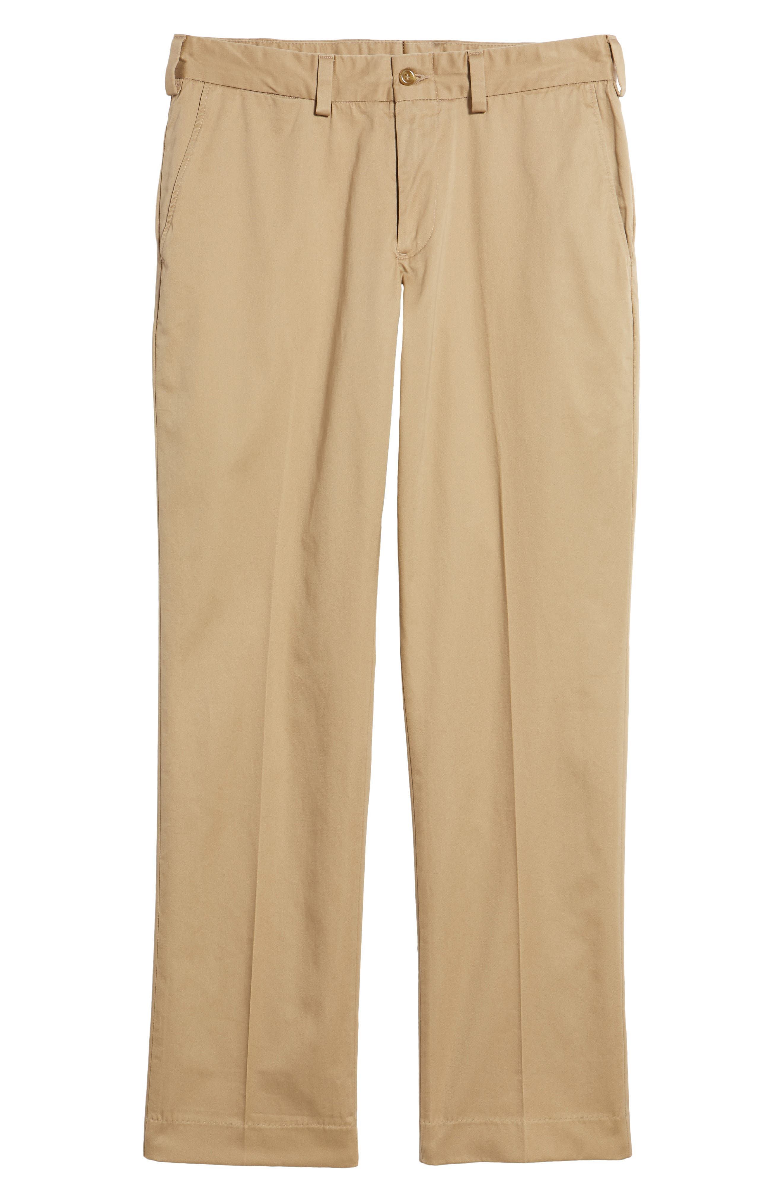 Straight Fit Chamois Cloth Pants,                             Alternate thumbnail 6, color,                             Camel