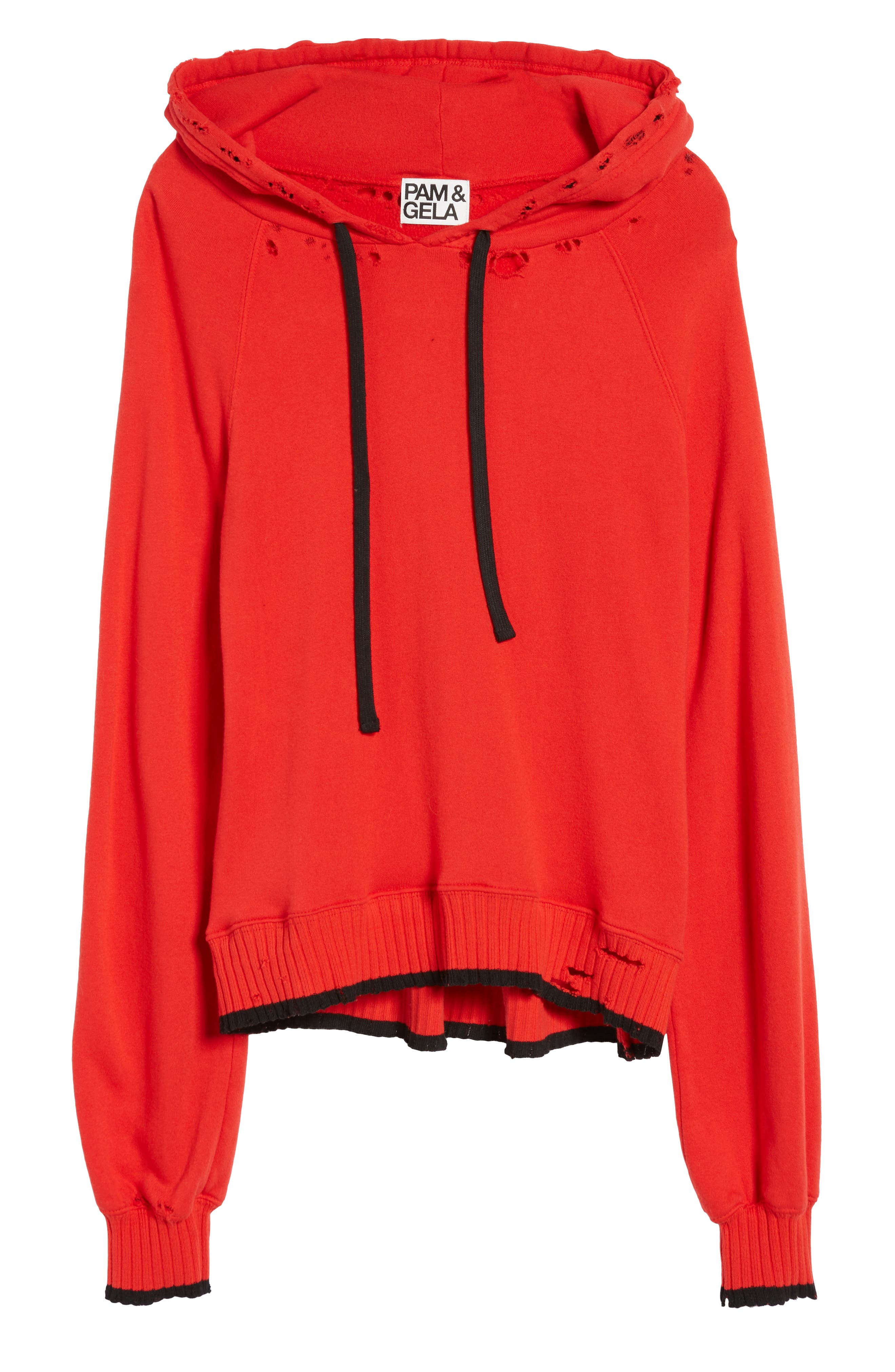 Hollywood Tipped Hoodie,                             Alternate thumbnail 6, color,                             Formula 1 Red