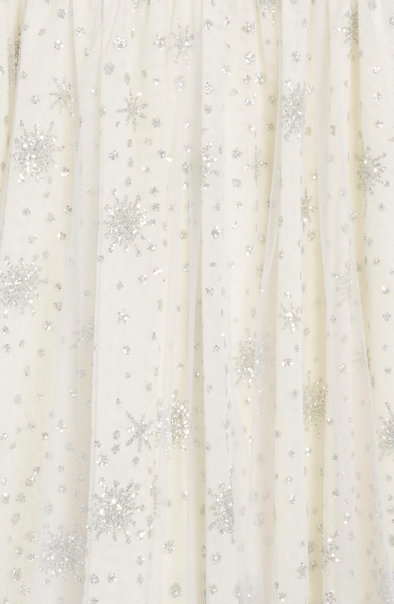 Winter Sparkle Dress,                             Alternate thumbnail 4, color,                             Cream