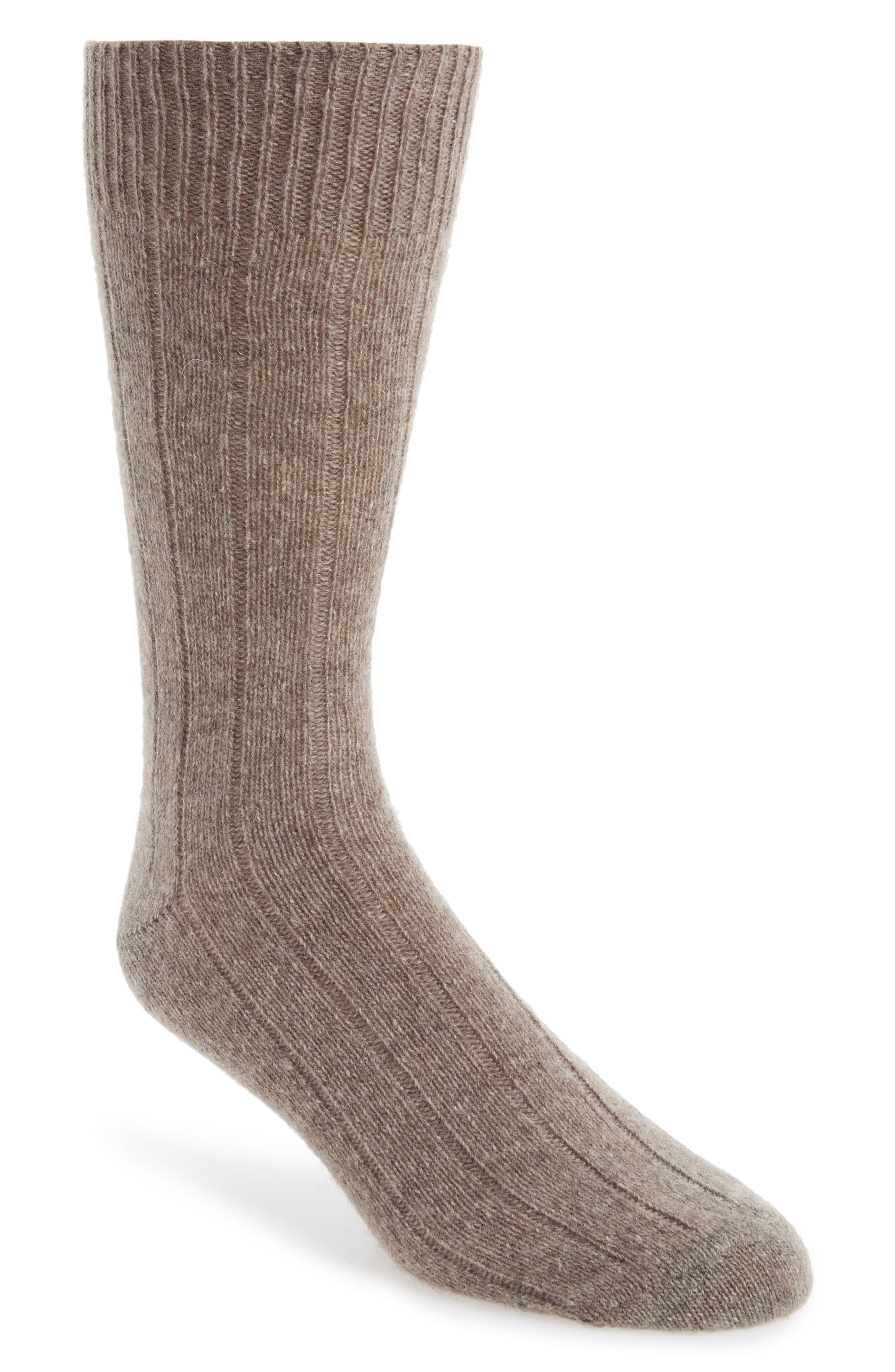 Cashmere Blend Socks,                             Main thumbnail 1, color,                             Oatmeal Heather