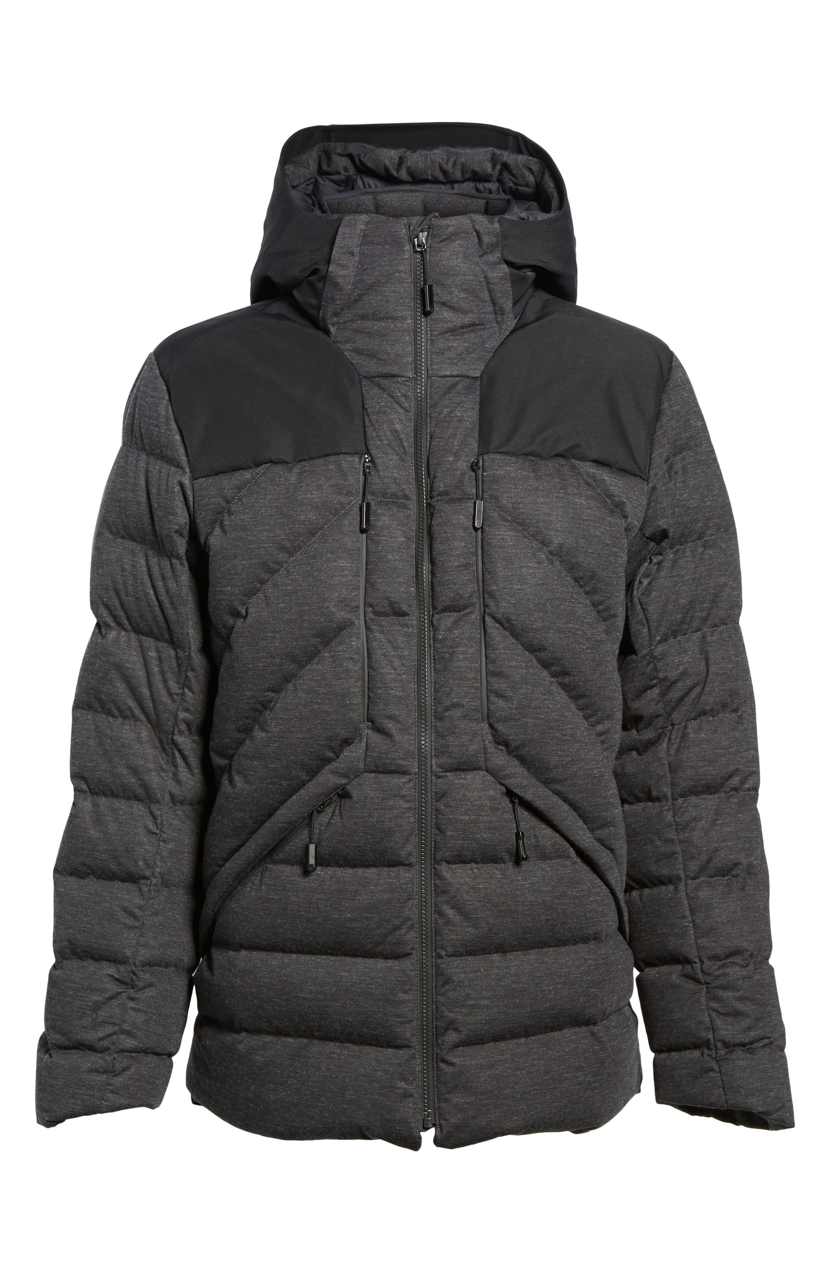 Cryos Waterproof Down Jacket,                             Alternate thumbnail 8, color,                             Dark Grey Heather