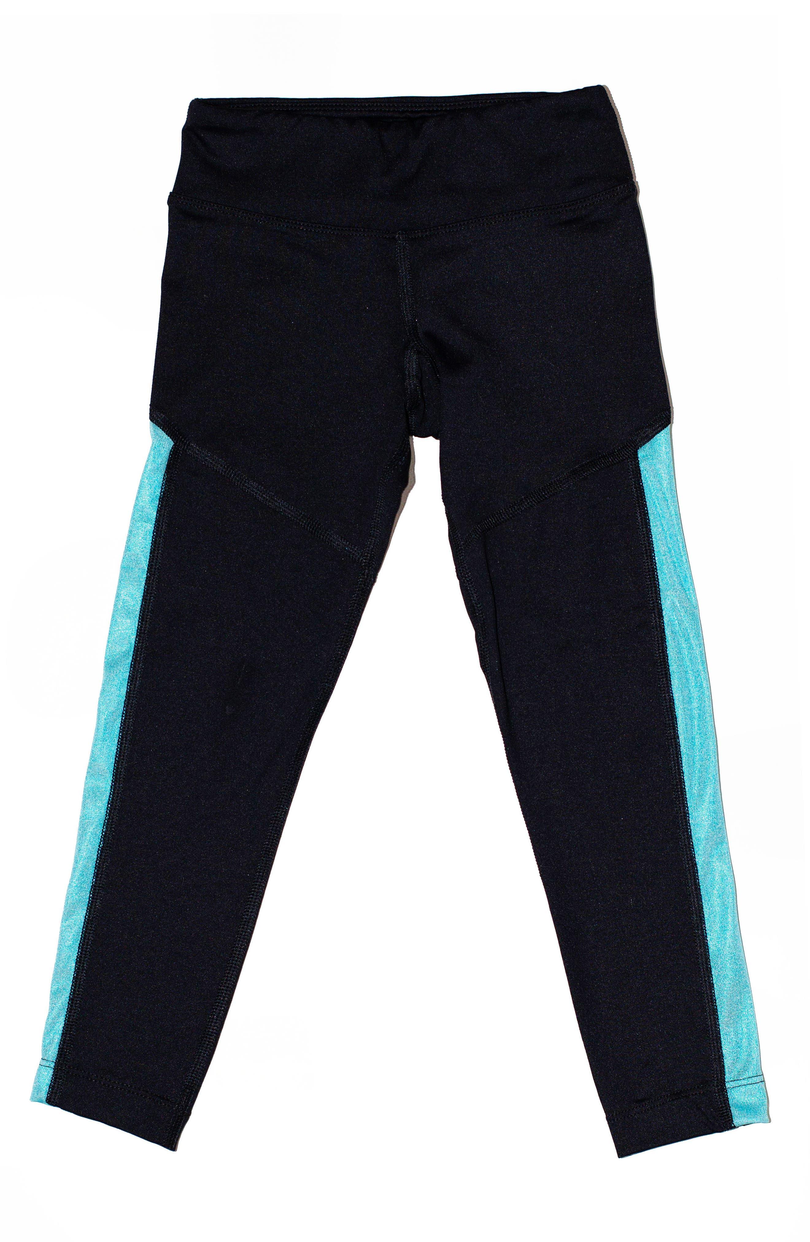 Zara Colorblock Leggings,                         Main,                         color, Metallic Teal