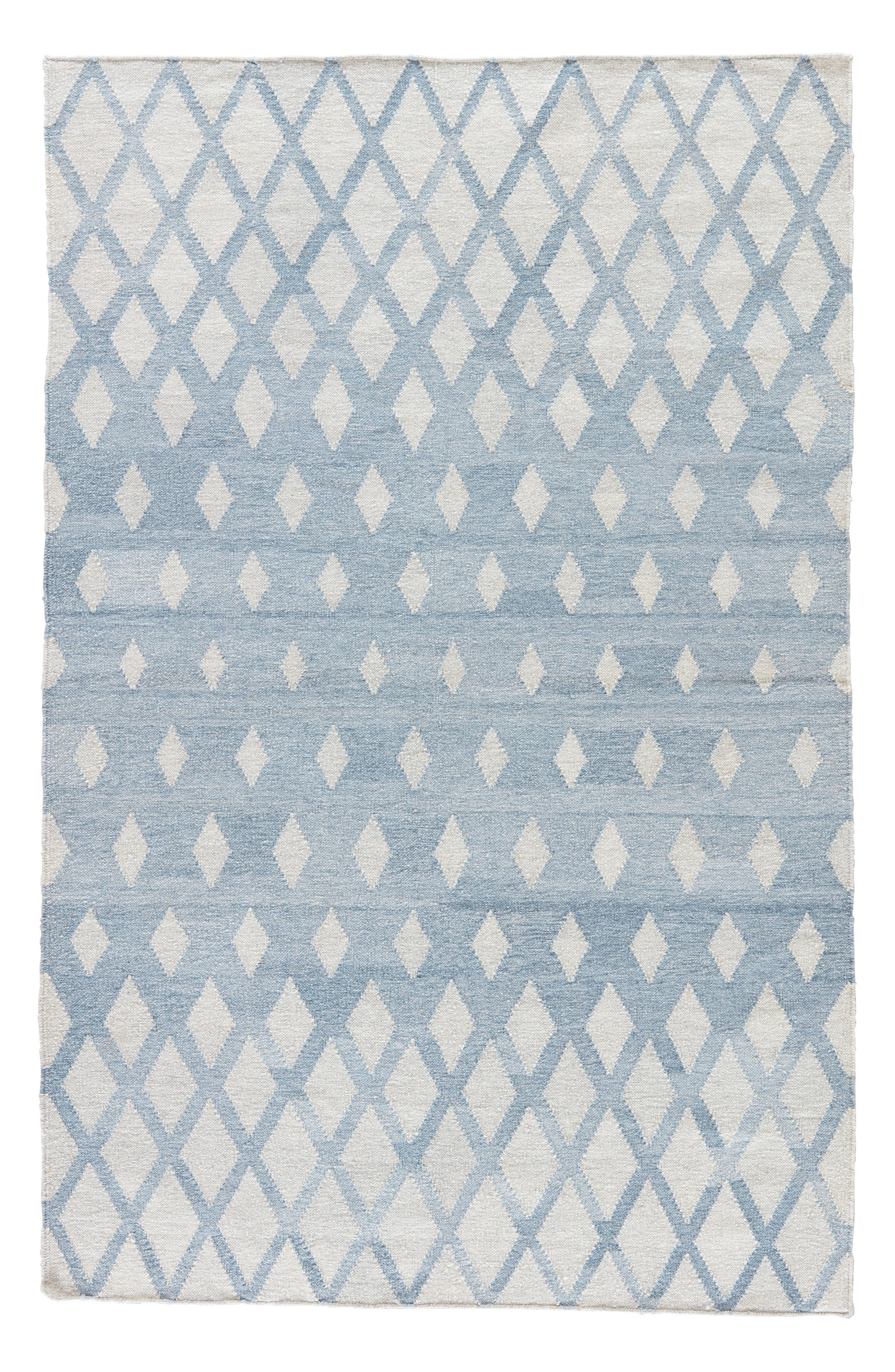 Pyramid Blocks Rug,                             Main thumbnail 1, color,                             Faded Denim/ Oatmeal