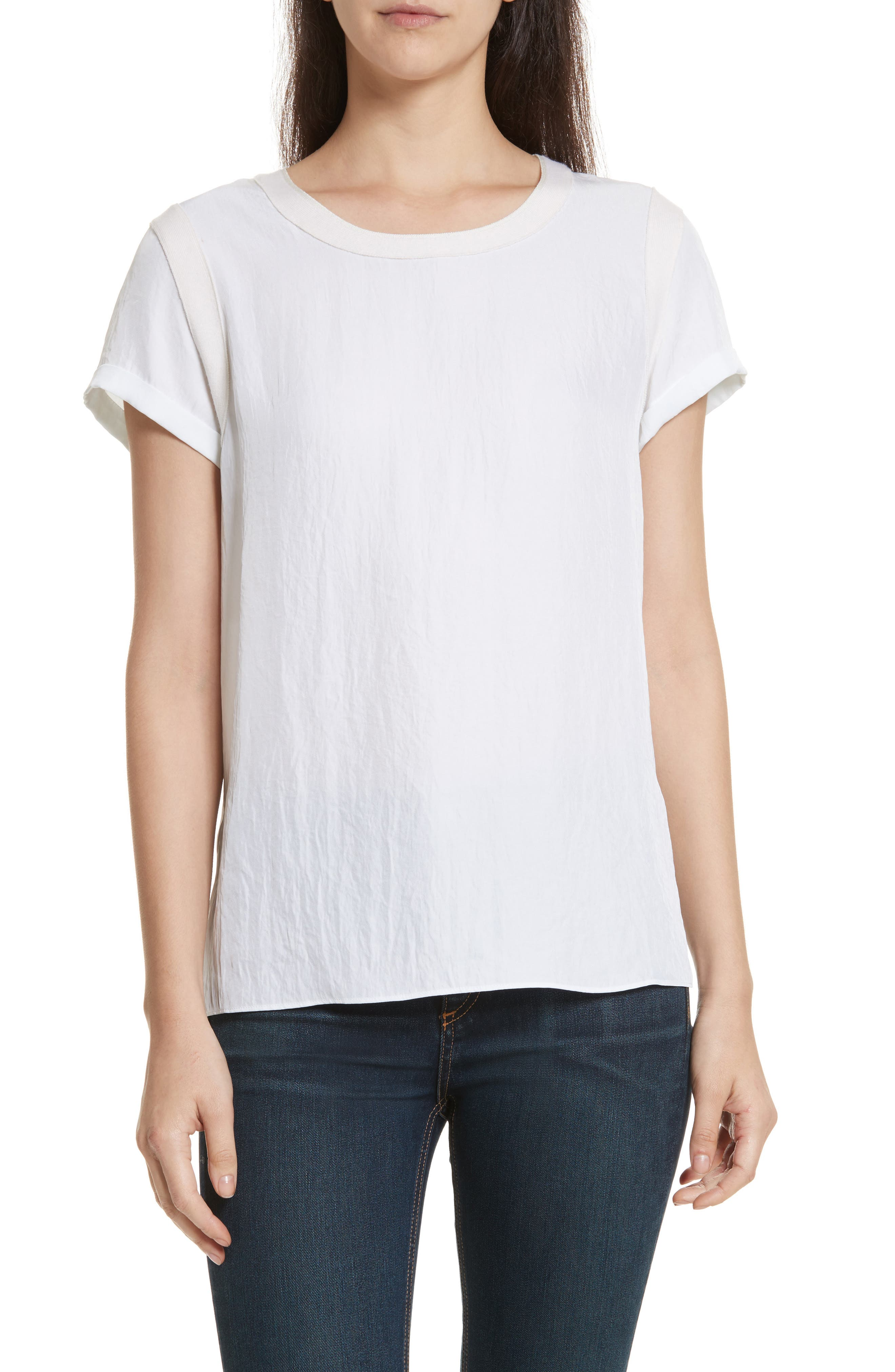 Nick Tee,                         Main,                         color, White