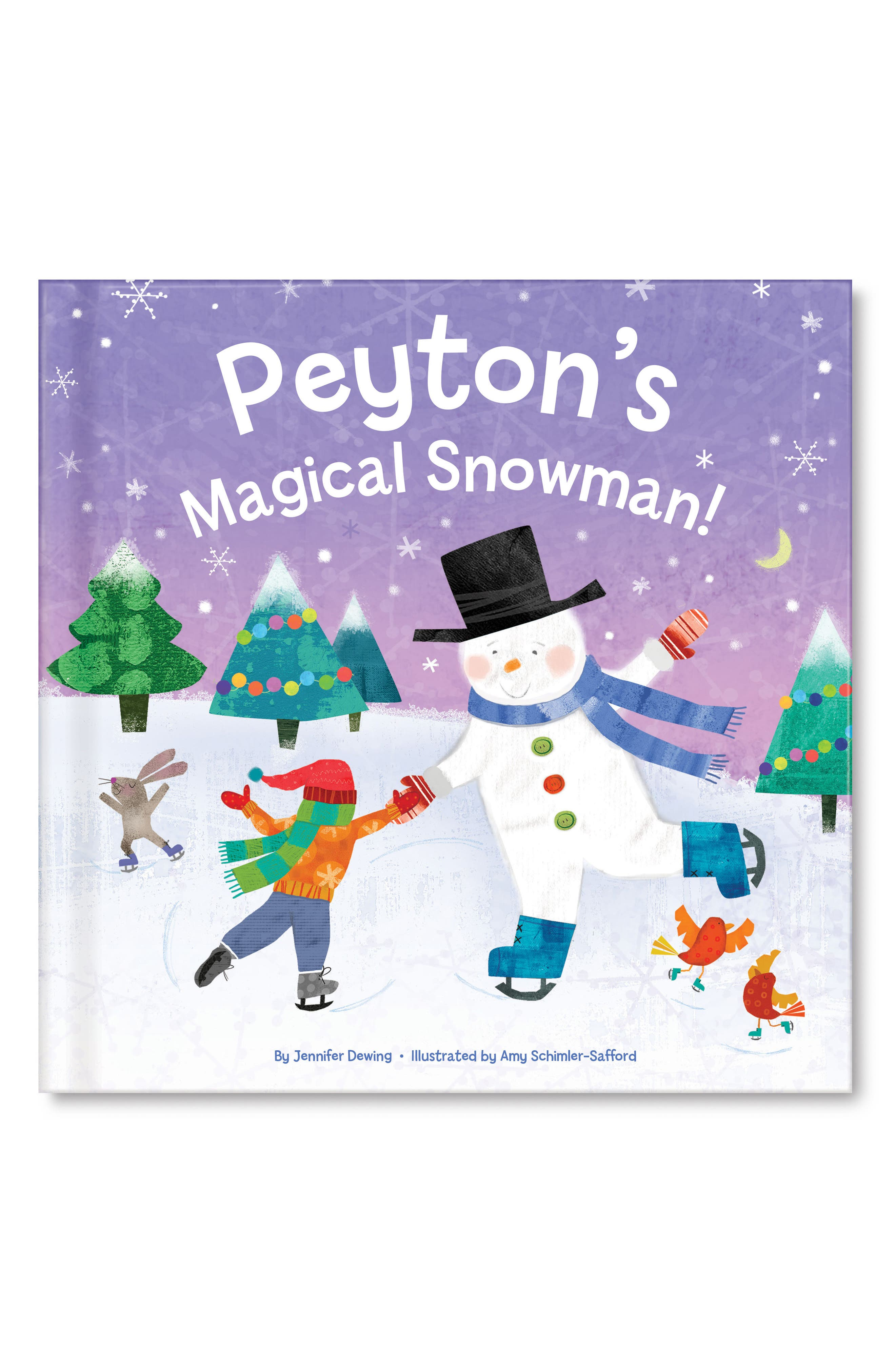'My Magical Snowman' Personalized Storybook,                             Main thumbnail 1, color,                             Purple