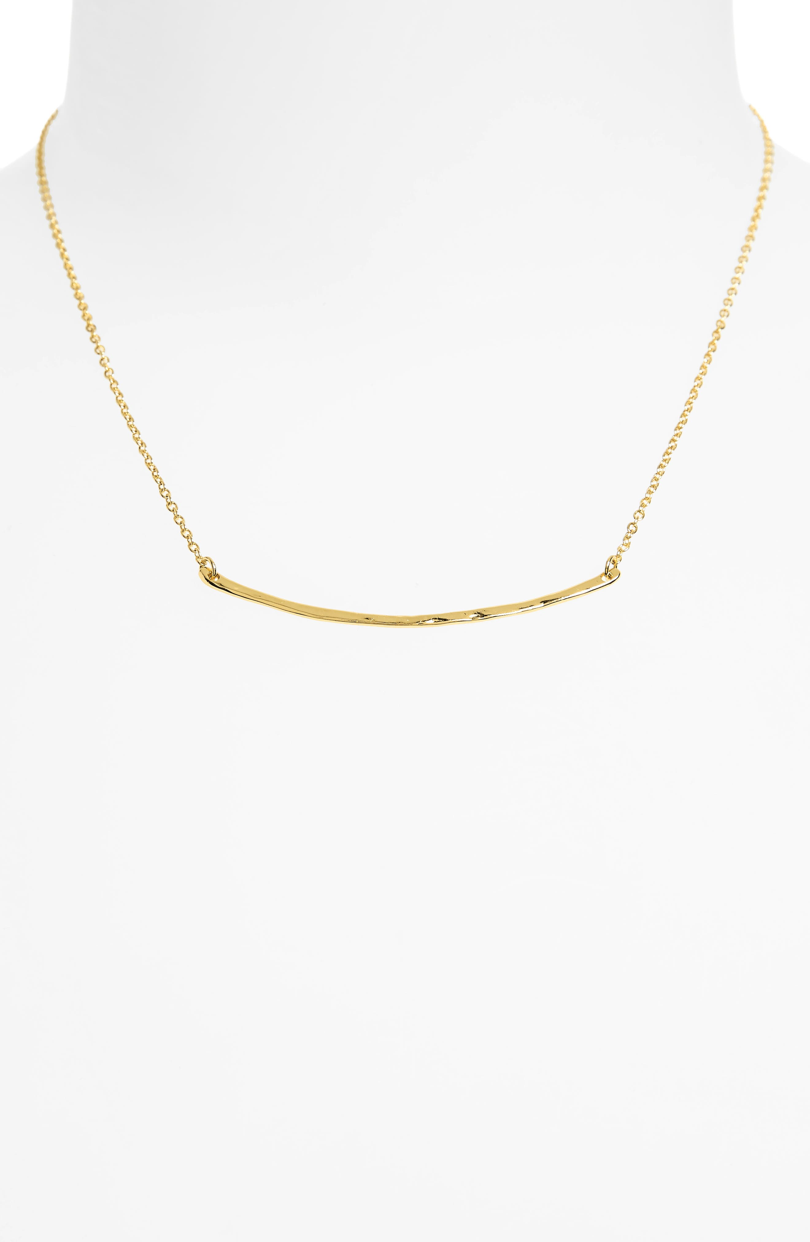 Taner Bar Small Necklace,                             Alternate thumbnail 2, color,                             Gold