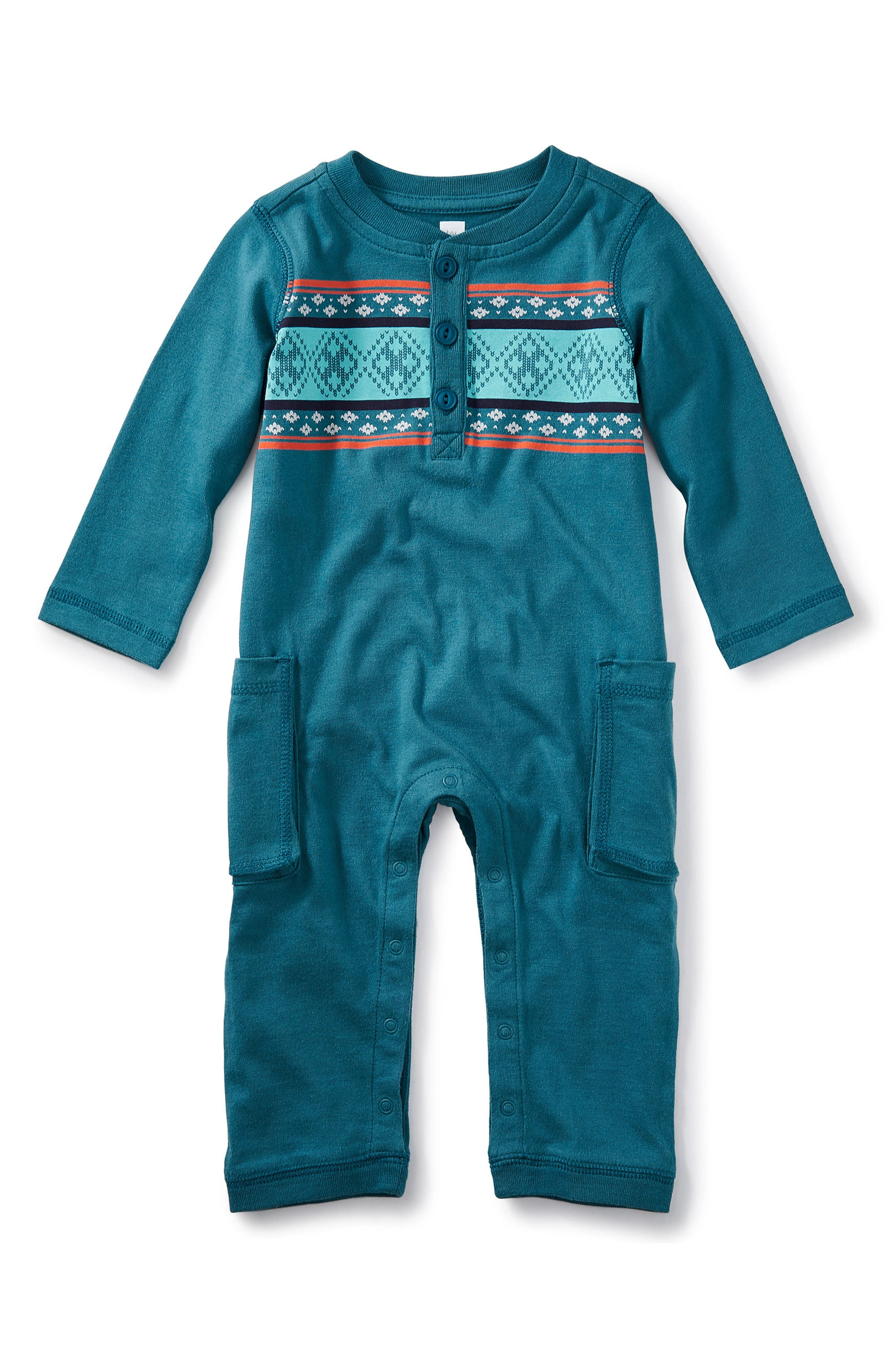 Tea Collection Paxton Romper (Baby Boys)