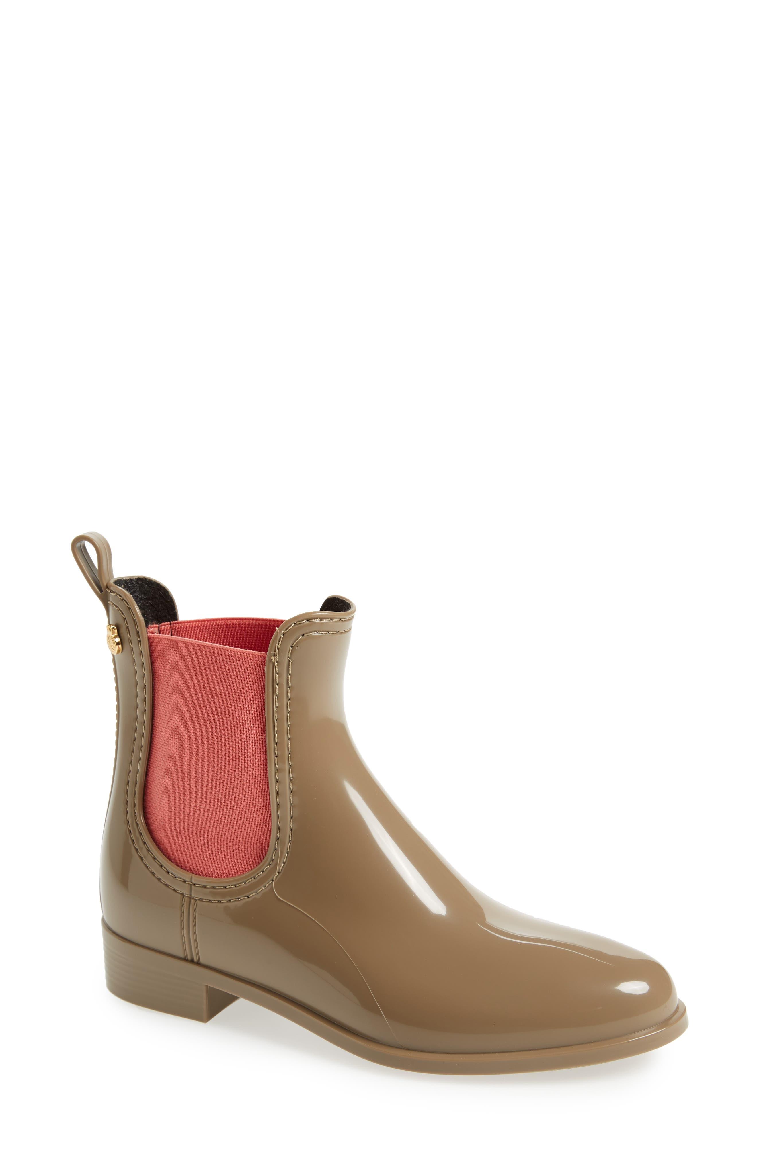 Pisa Waterproof Chelsea Boot,                         Main,                         color, Taupe Gloss