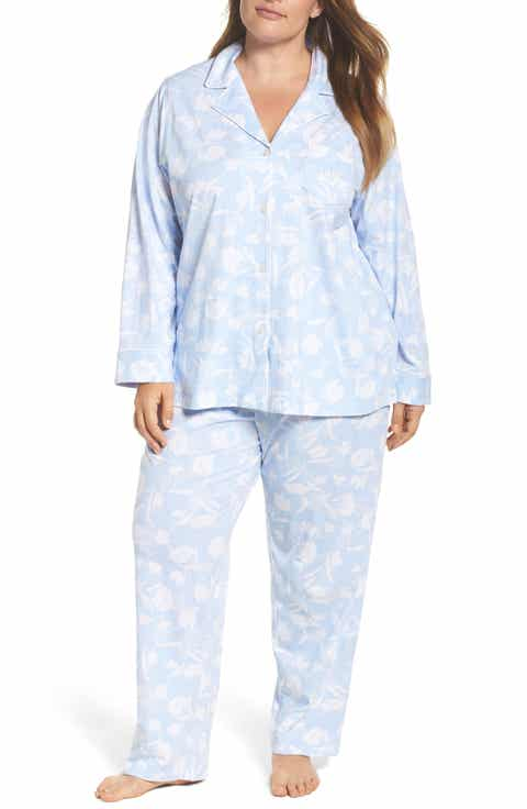 Lauren Ralph Lauren Floral Print Jersey Pajamas (Plus Size)