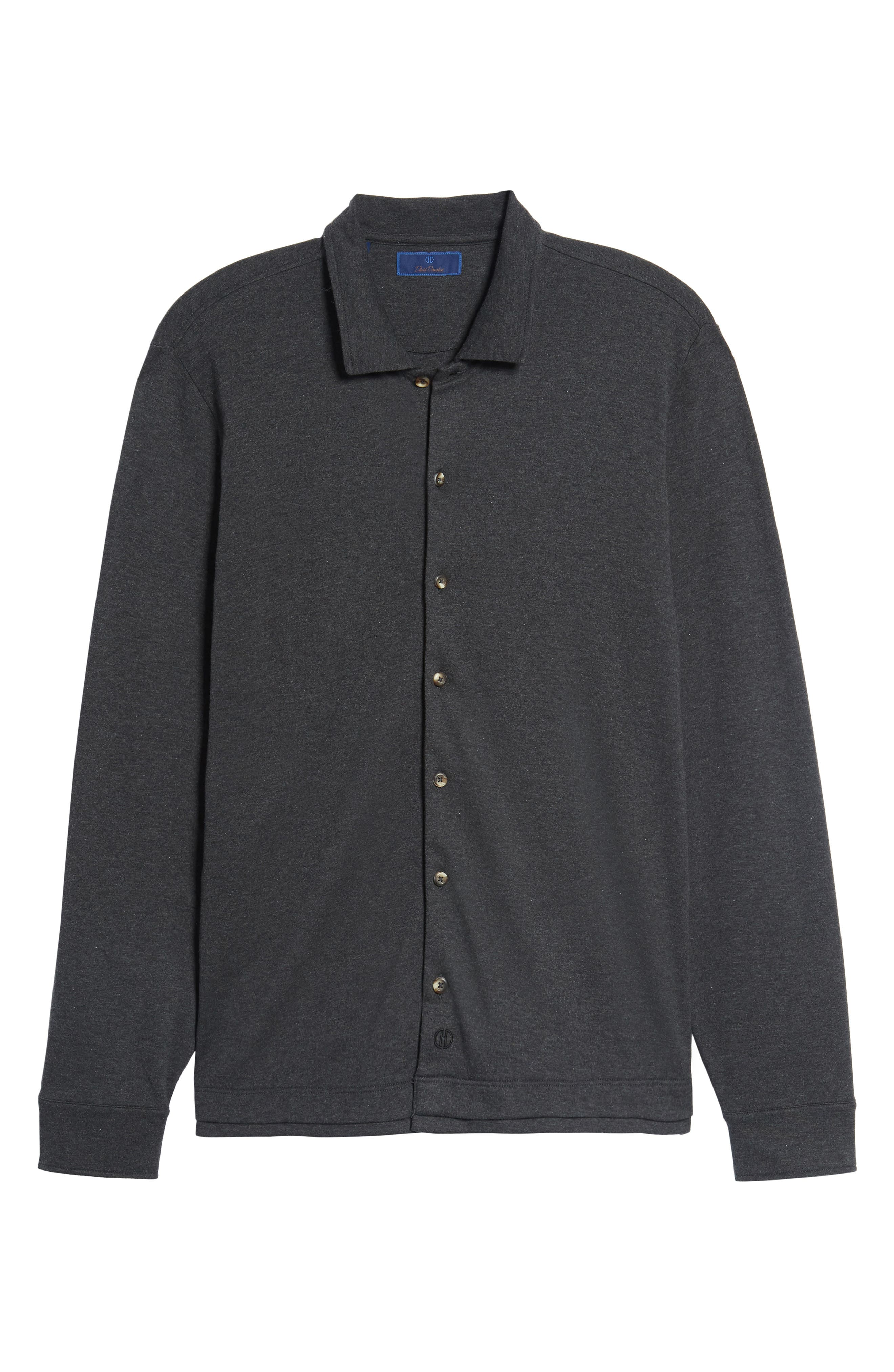 Alternate Image 6  - David Donahue Interlock Knit Sport Shirt