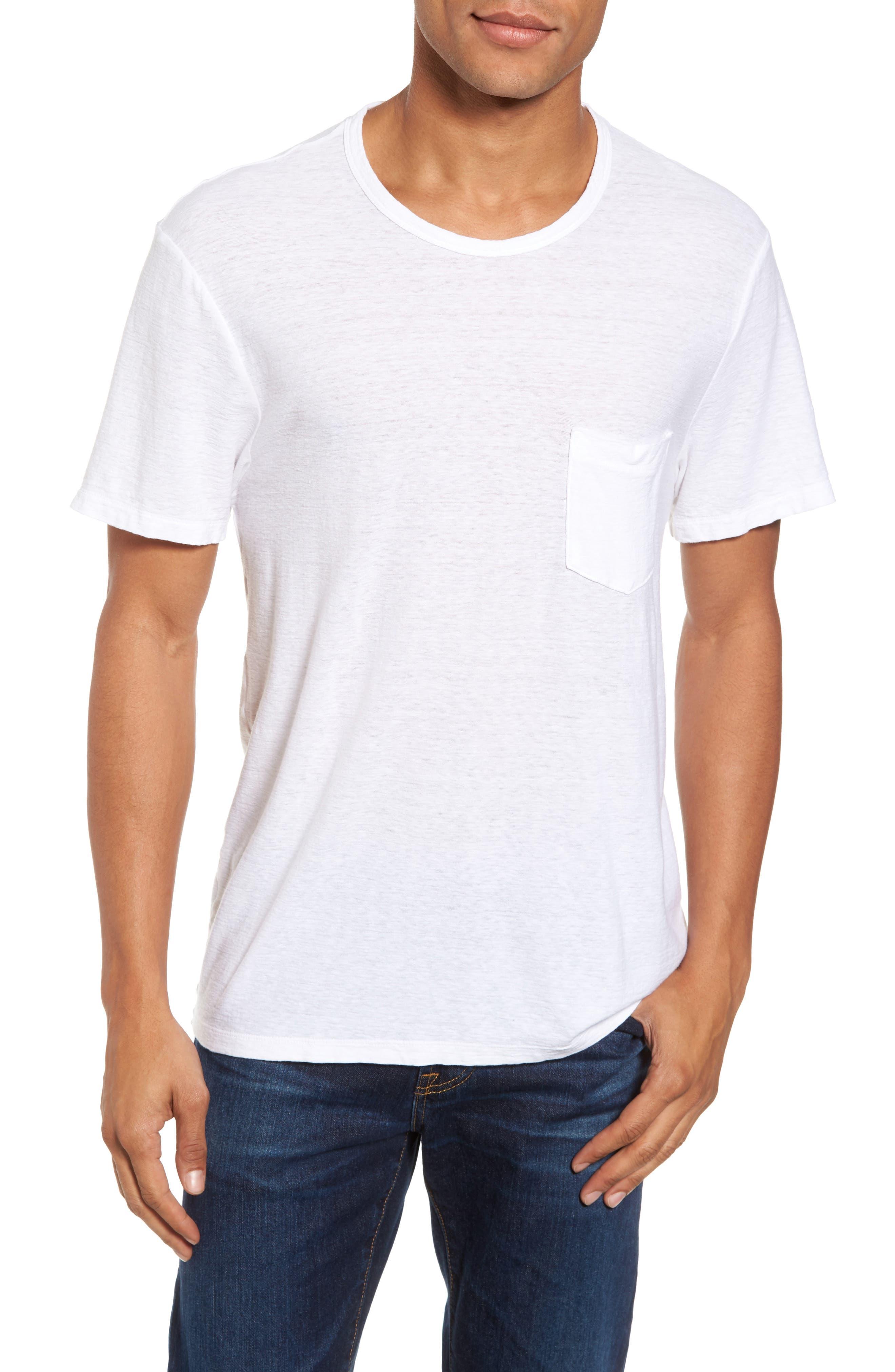 Main Image - James Perse Cotton & Linen Pocket T-Shirt