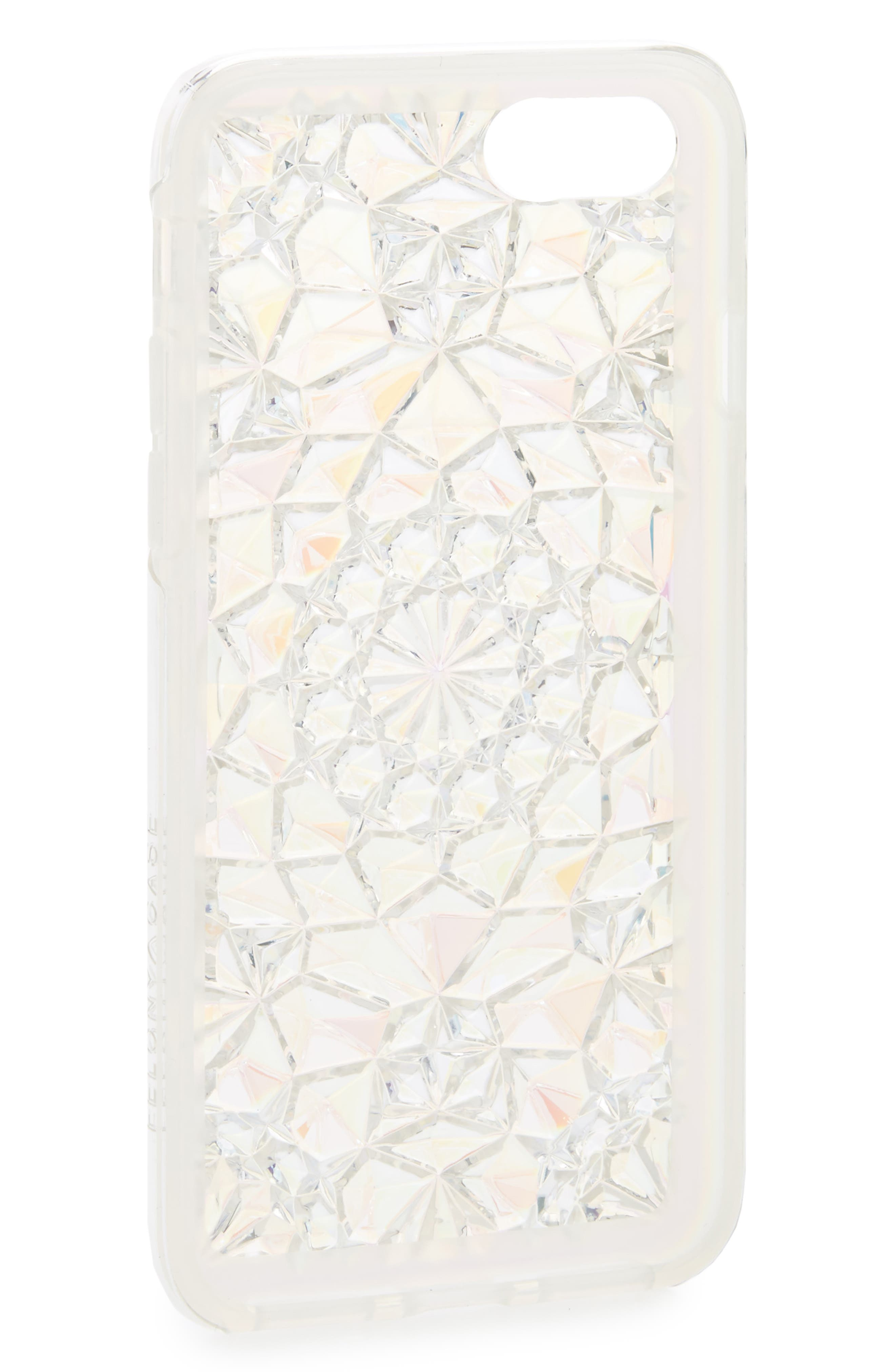 Clear Cosmic Kaleidoscope iPhone 7/8 & 7/8 Plus Case,                             Alternate thumbnail 2, color,                             Ivory