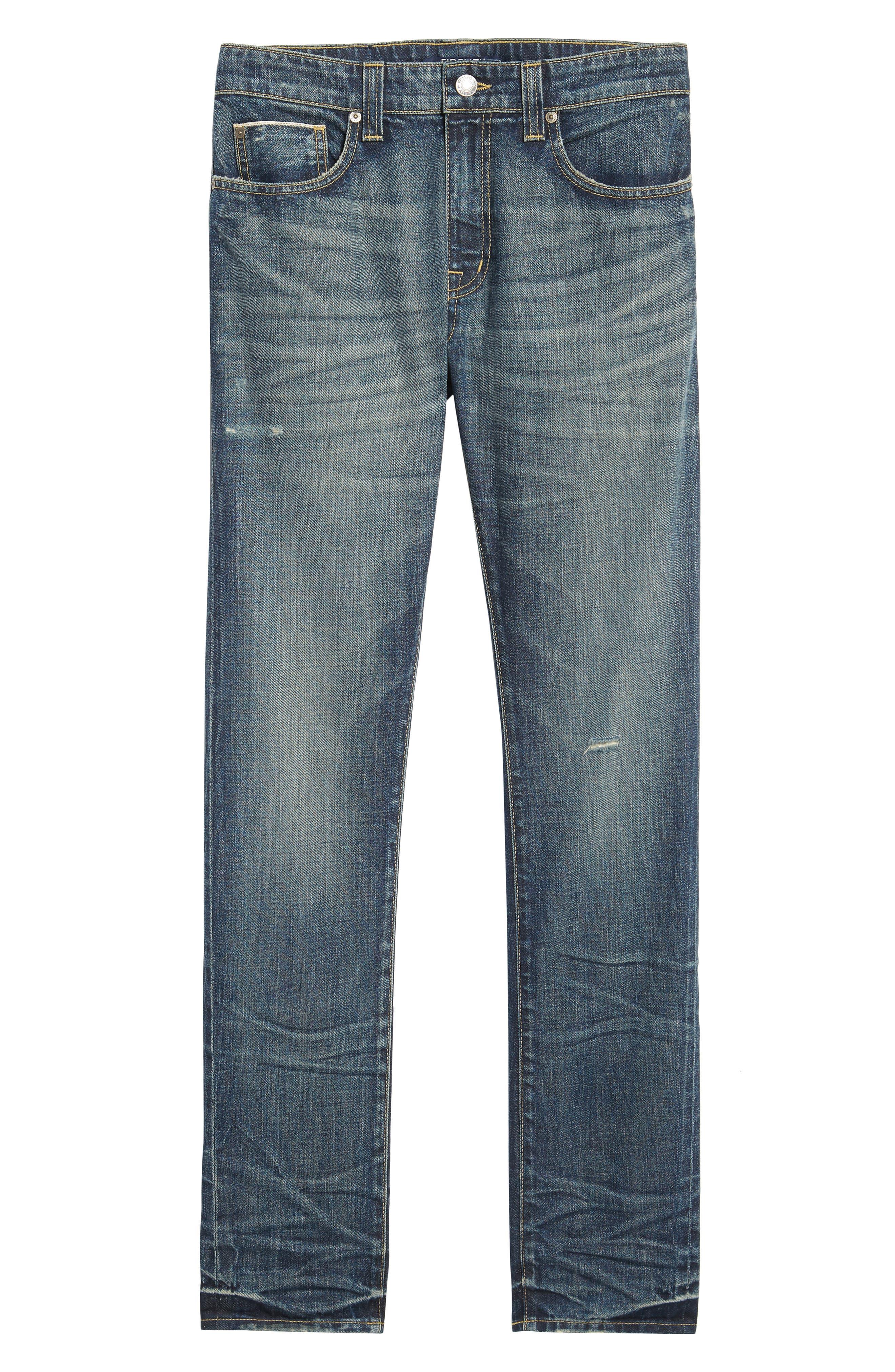 Fideltiy Denim Torino Slim Fit Jeans,                             Alternate thumbnail 6, color,                             Crystal Blue