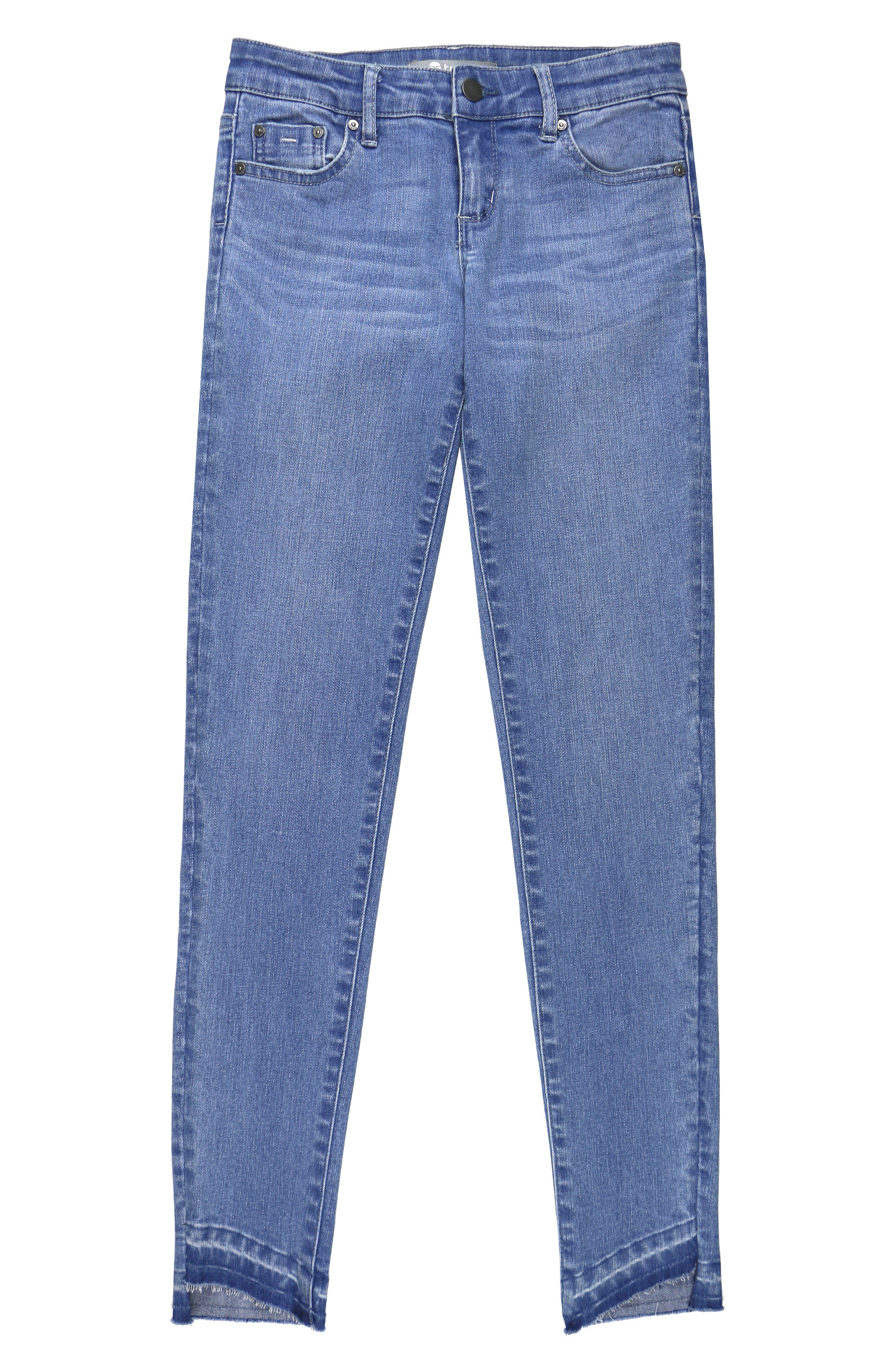Main Image - Tractr Release Hem Skinny Jeans (Big Girls)