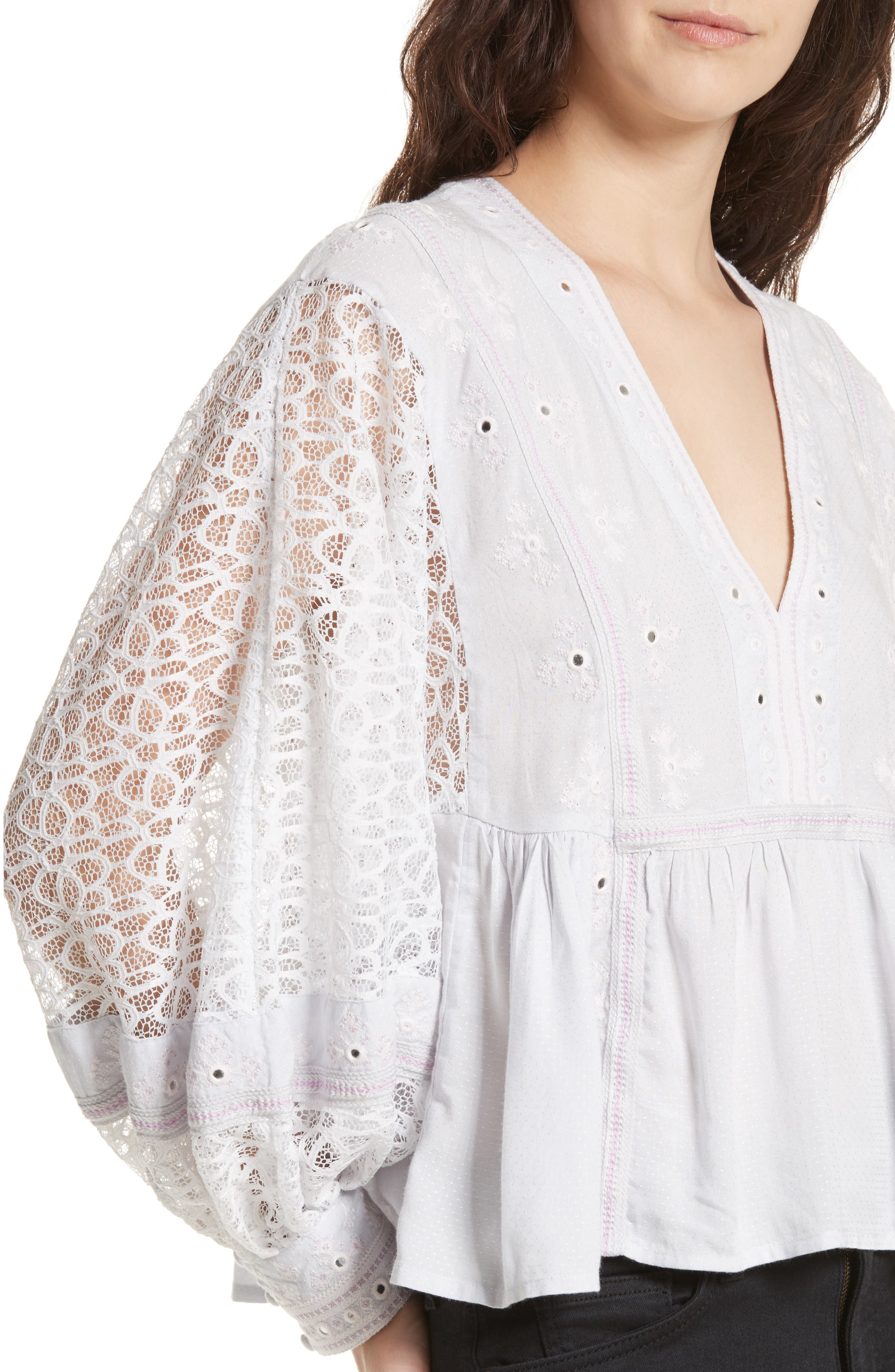 Alternate Image 4  - Free People Boogie All Night Blouse