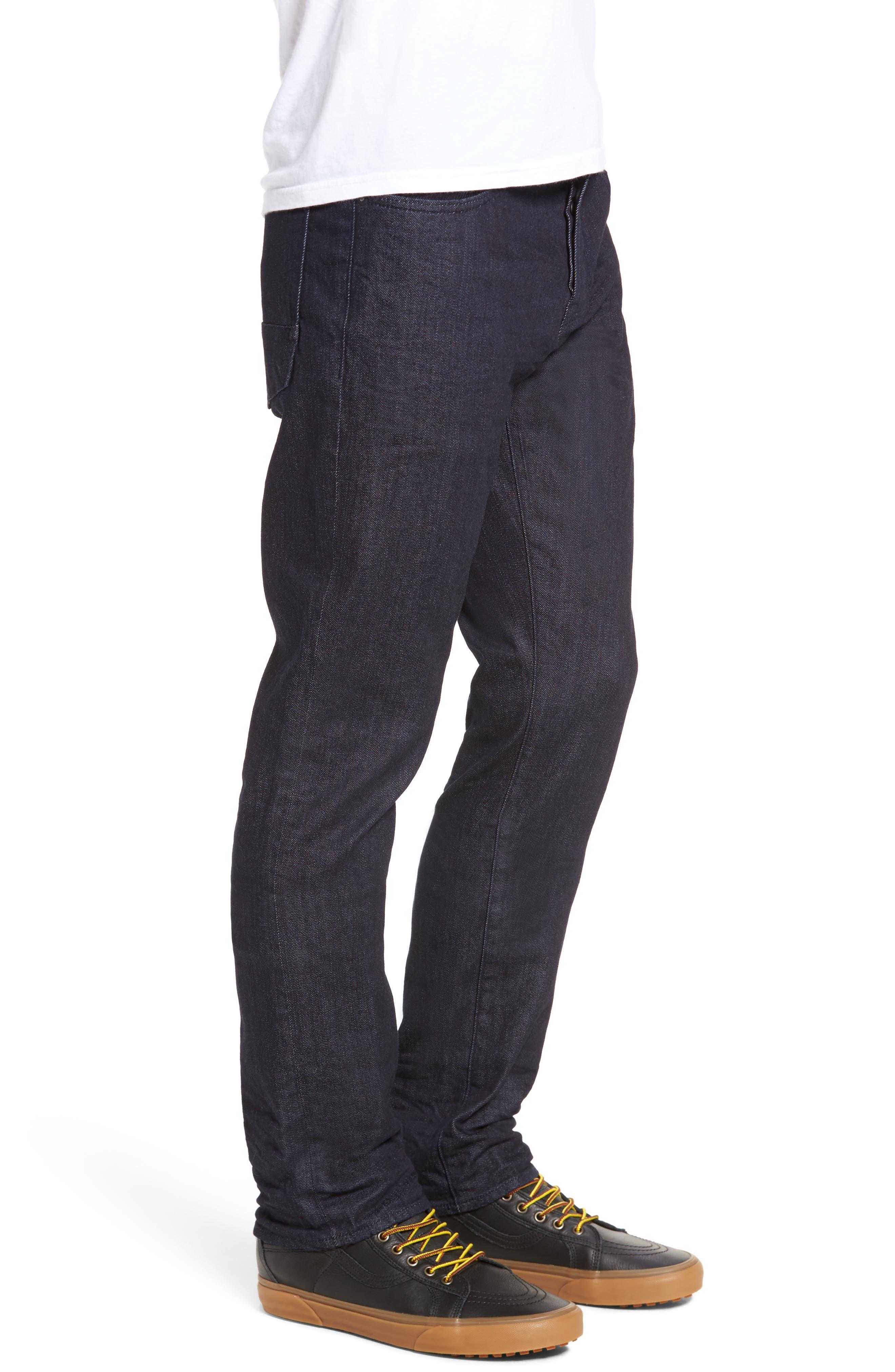 Demon Slim Straight Leg Jeans,                             Alternate thumbnail 3, color,                             Rinse