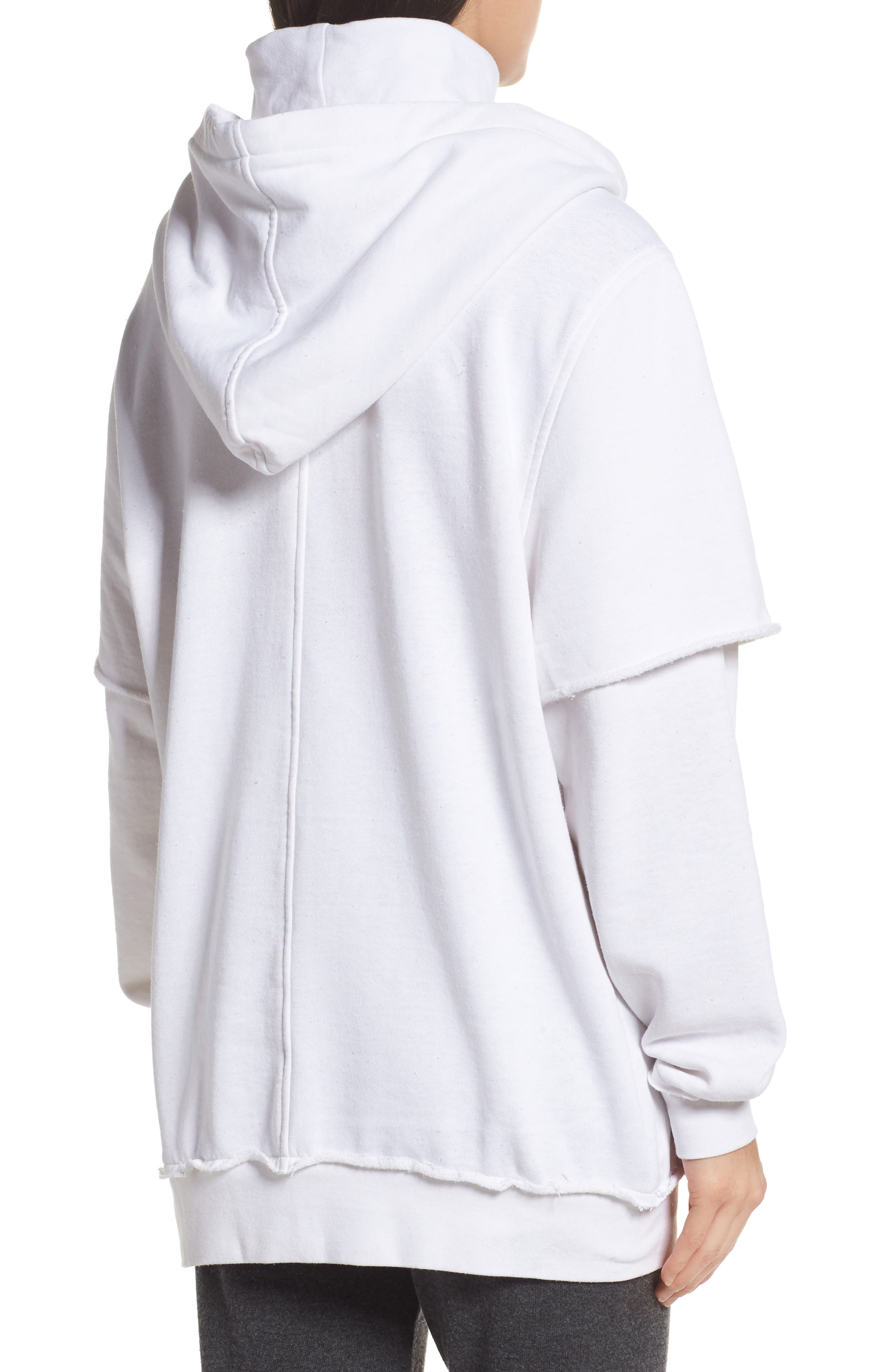 Good Hood Sweatshirt Dress,                             Alternate thumbnail 2, color,                             White