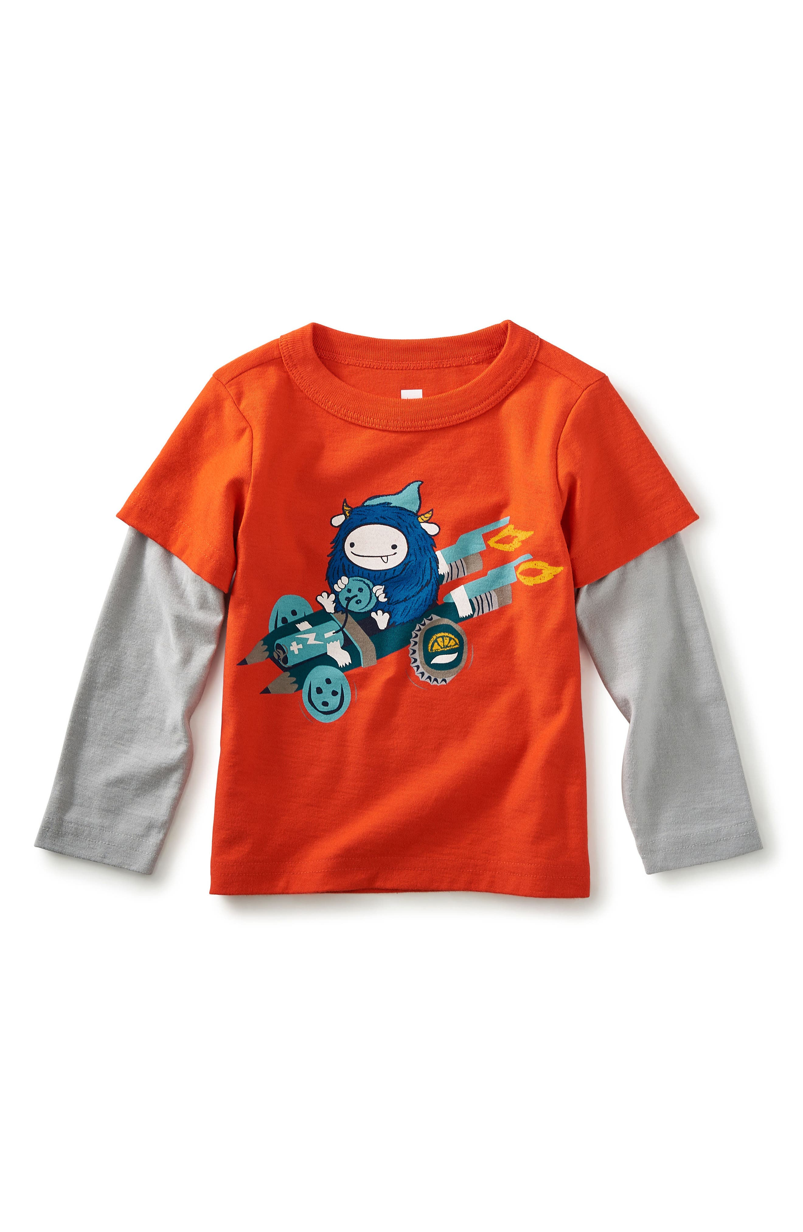 Browniemobile Graphic T-Shirt,                             Main thumbnail 1, color,                             Red Finch