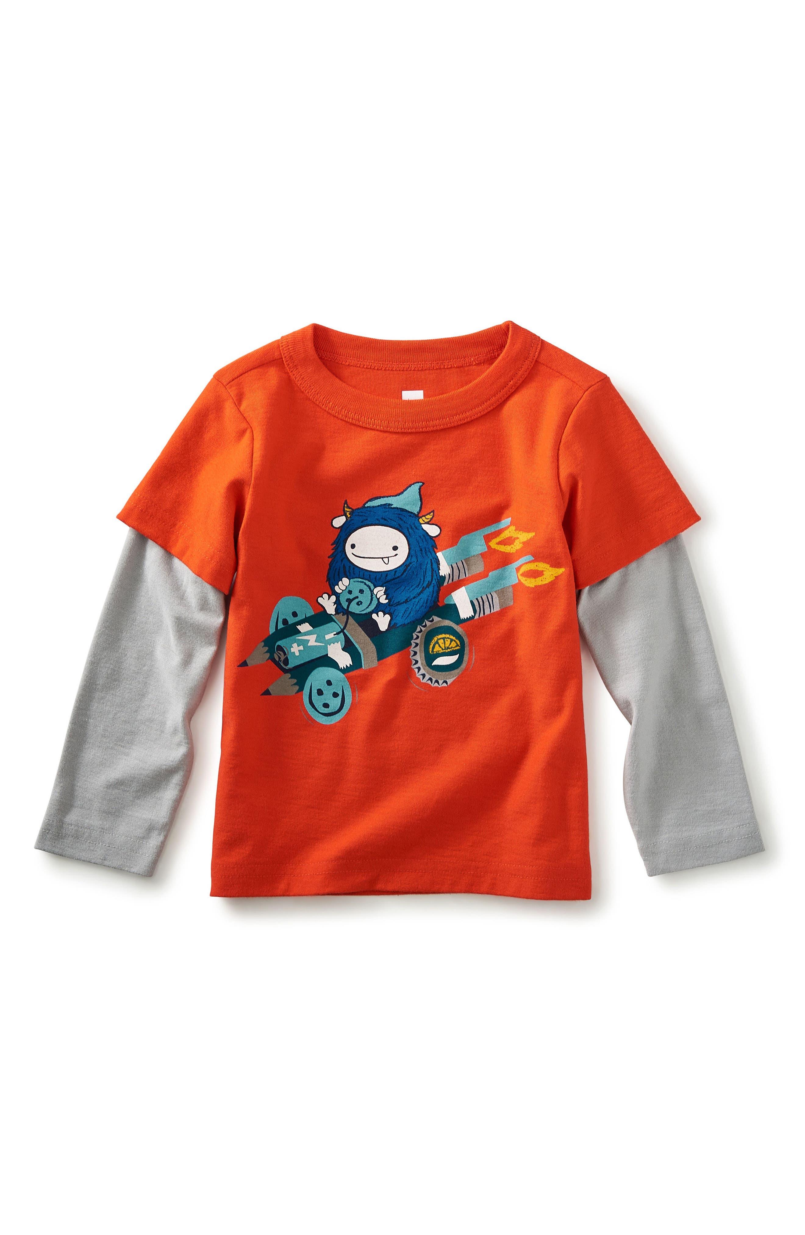 Main Image - Tea Collection Browniemobile Graphic T-Shirt (Baby Boys)