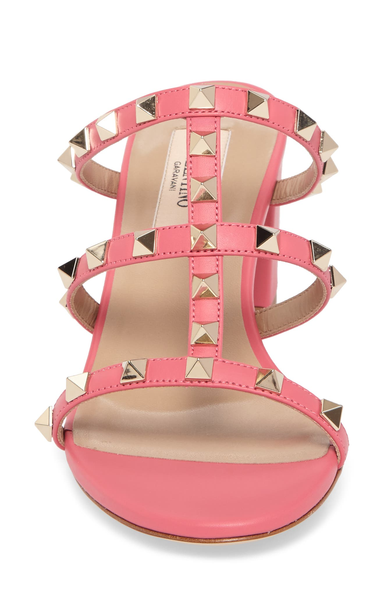 Rockstud Slide Sandal,                             Alternate thumbnail 5, color,                             Shadow Pink