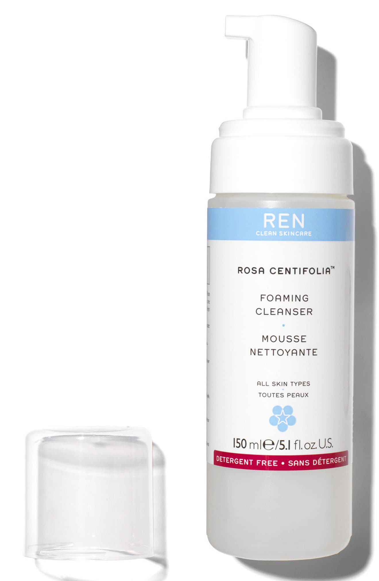 SPACE.NK.apothecary REN Rosa Centifolia<sup>™</sup> Foaming Cleanser,                             Alternate thumbnail 3, color,                             No Color