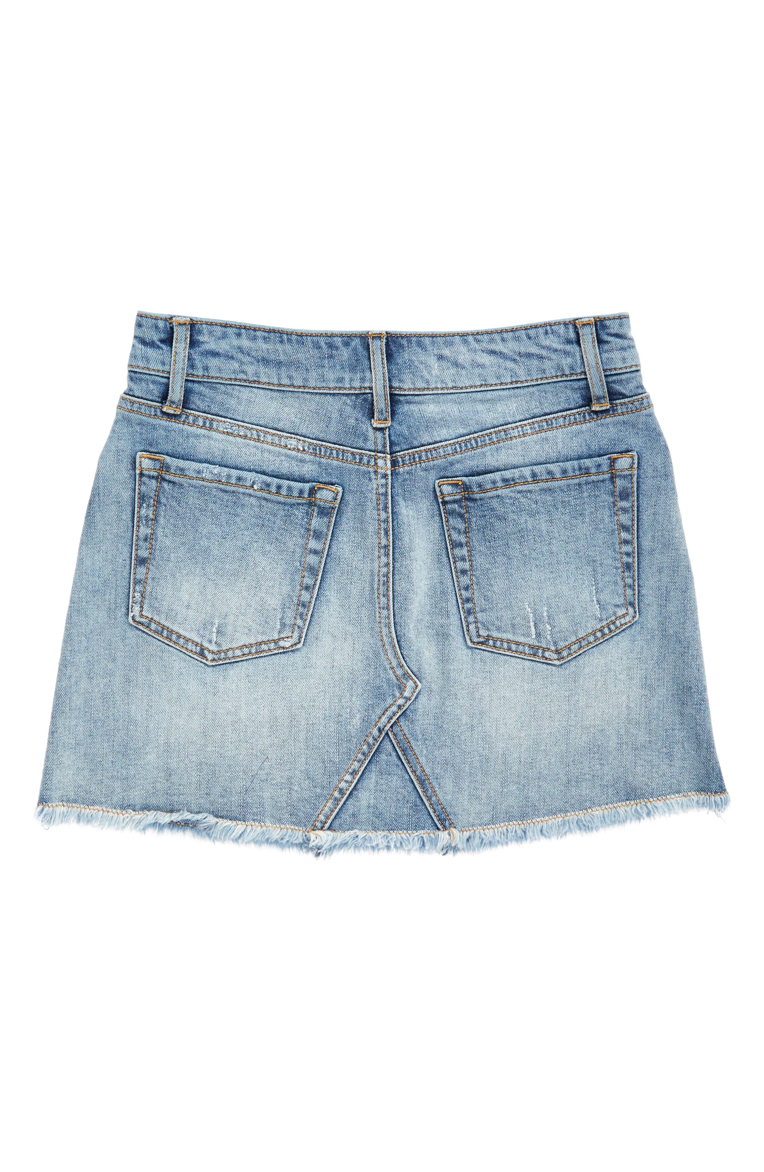 Alternate Image 2  - Treasure & Bond Cutoff Denim Skirt (Big Girls)