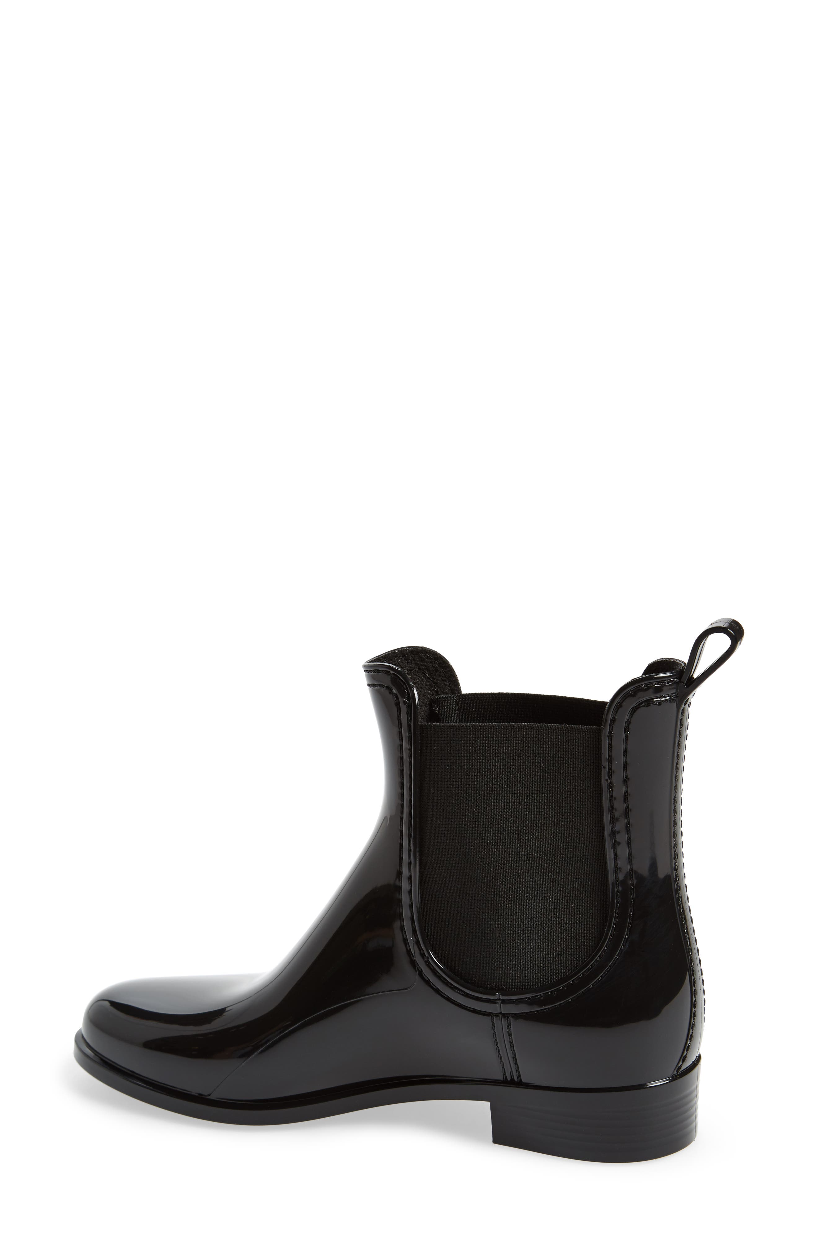 Haley Waterproof Chelsea Boot,                             Alternate thumbnail 2, color,                             Black Gloss