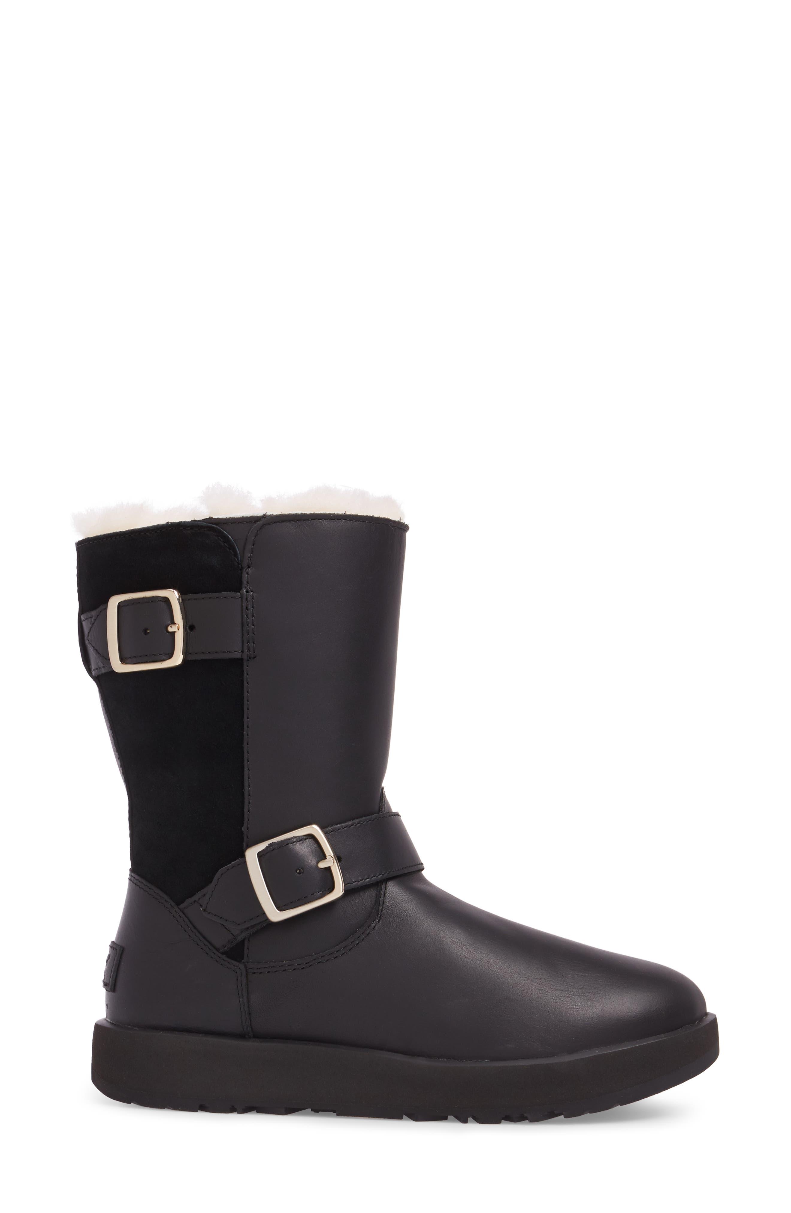 Breida Waterproof Boot,                             Alternate thumbnail 3, color,                             Black Leather
