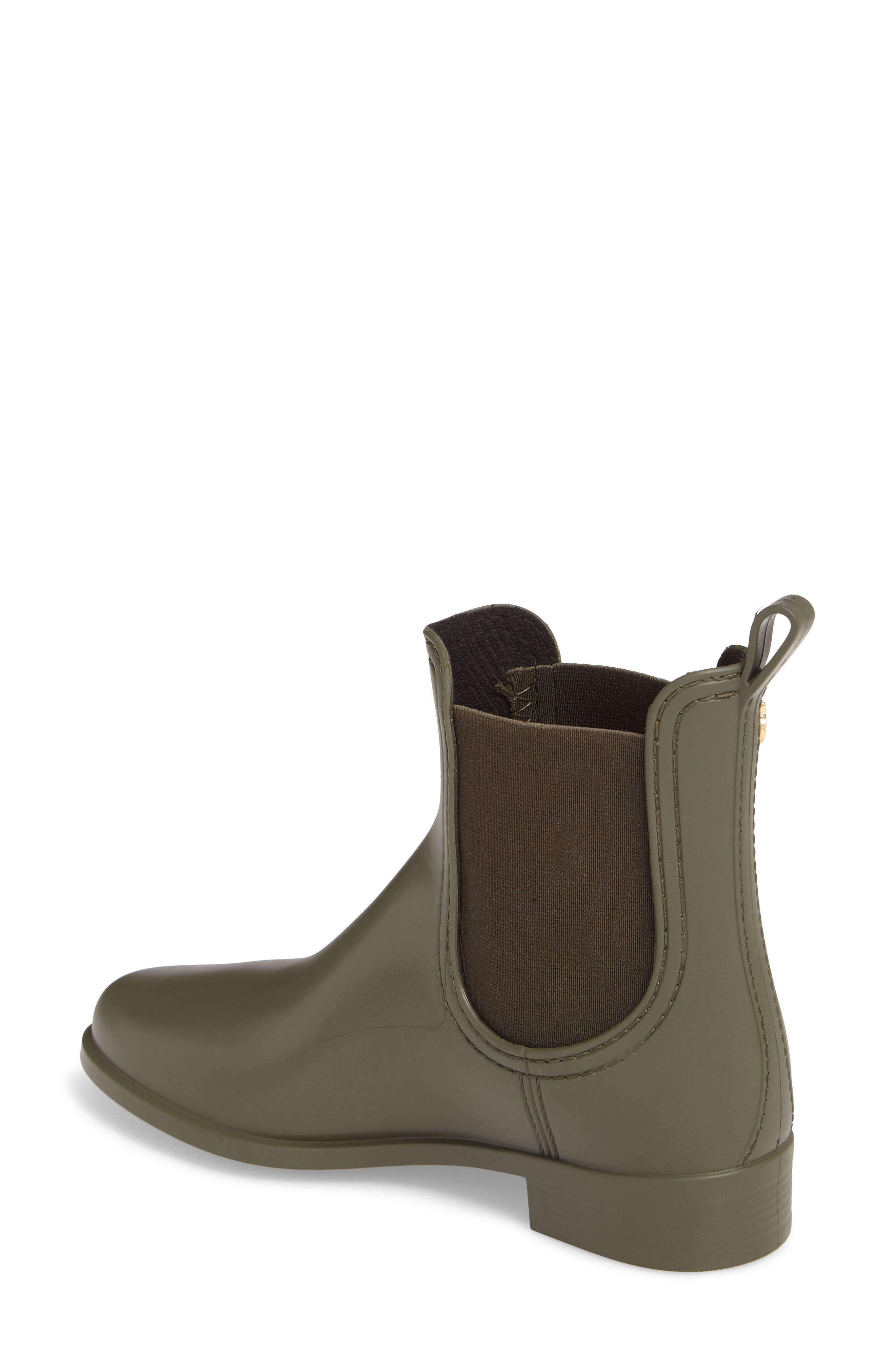 Splash Waterproof Chelsea Boot,                             Alternate thumbnail 2, color,                             Metal Green Matte