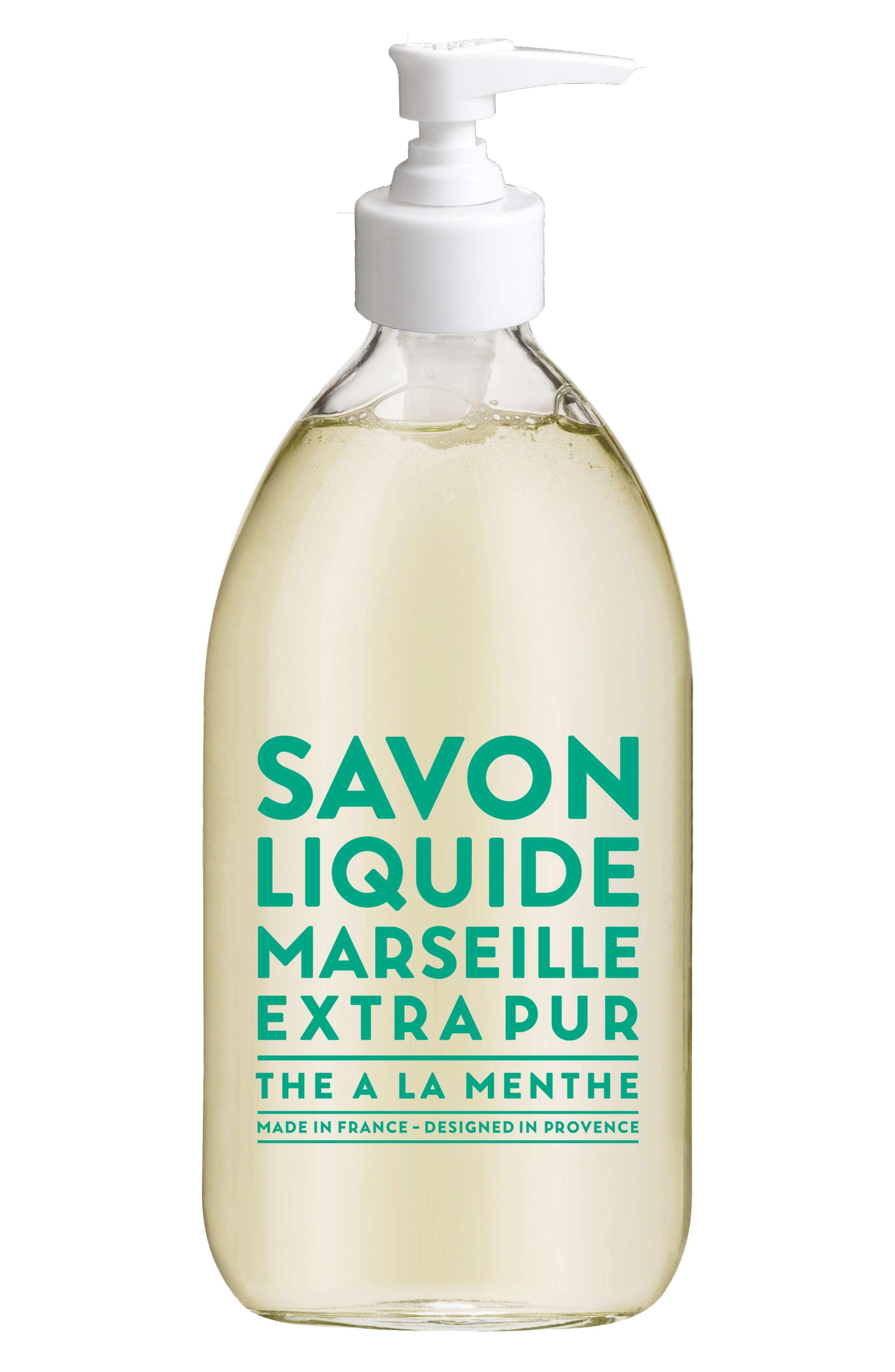 Mint Tea Liquid Marseille Soap,                             Main thumbnail 1, color,                             No Color