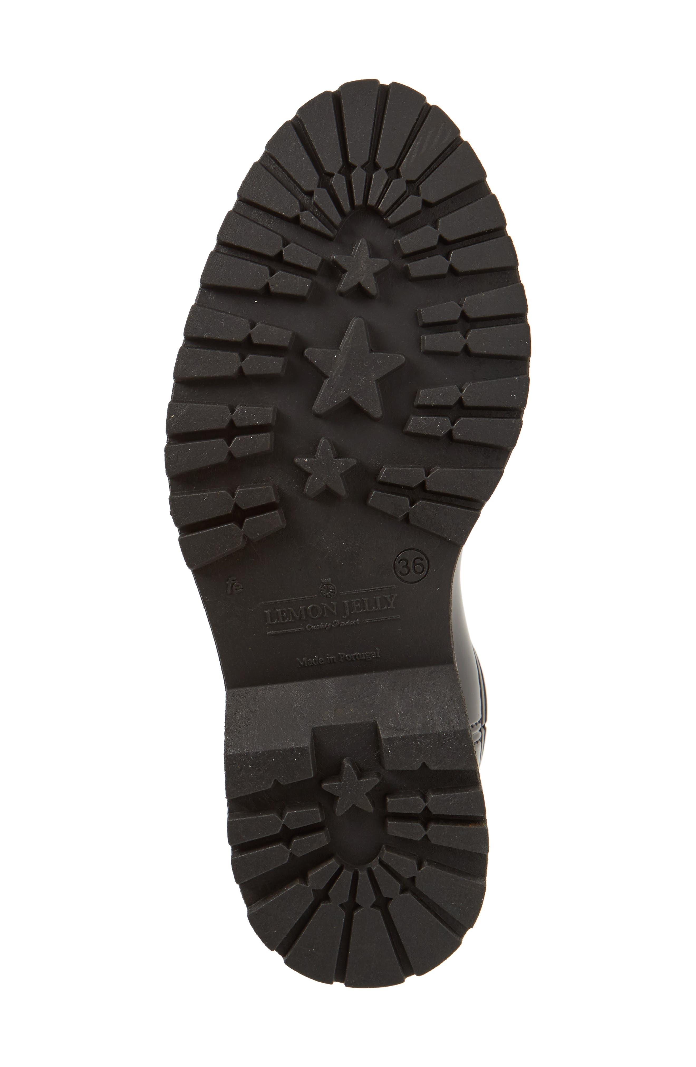 April Waterproof Chelsea Boot,                             Alternate thumbnail 6, color,                             Black Gloss