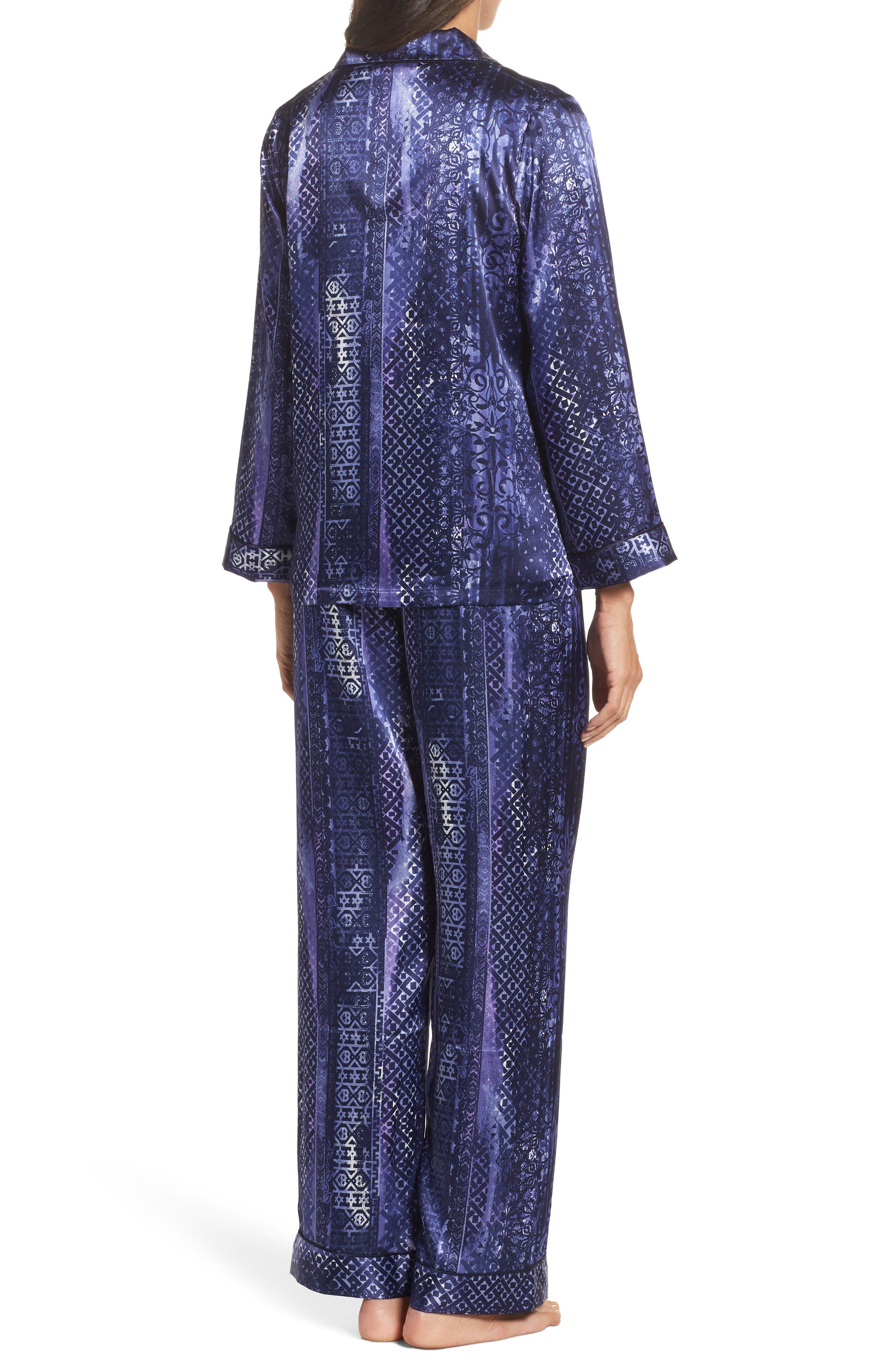 Alternate Image 2  - Oscar de la Renta Sleepwear Charmeuse Pajamas