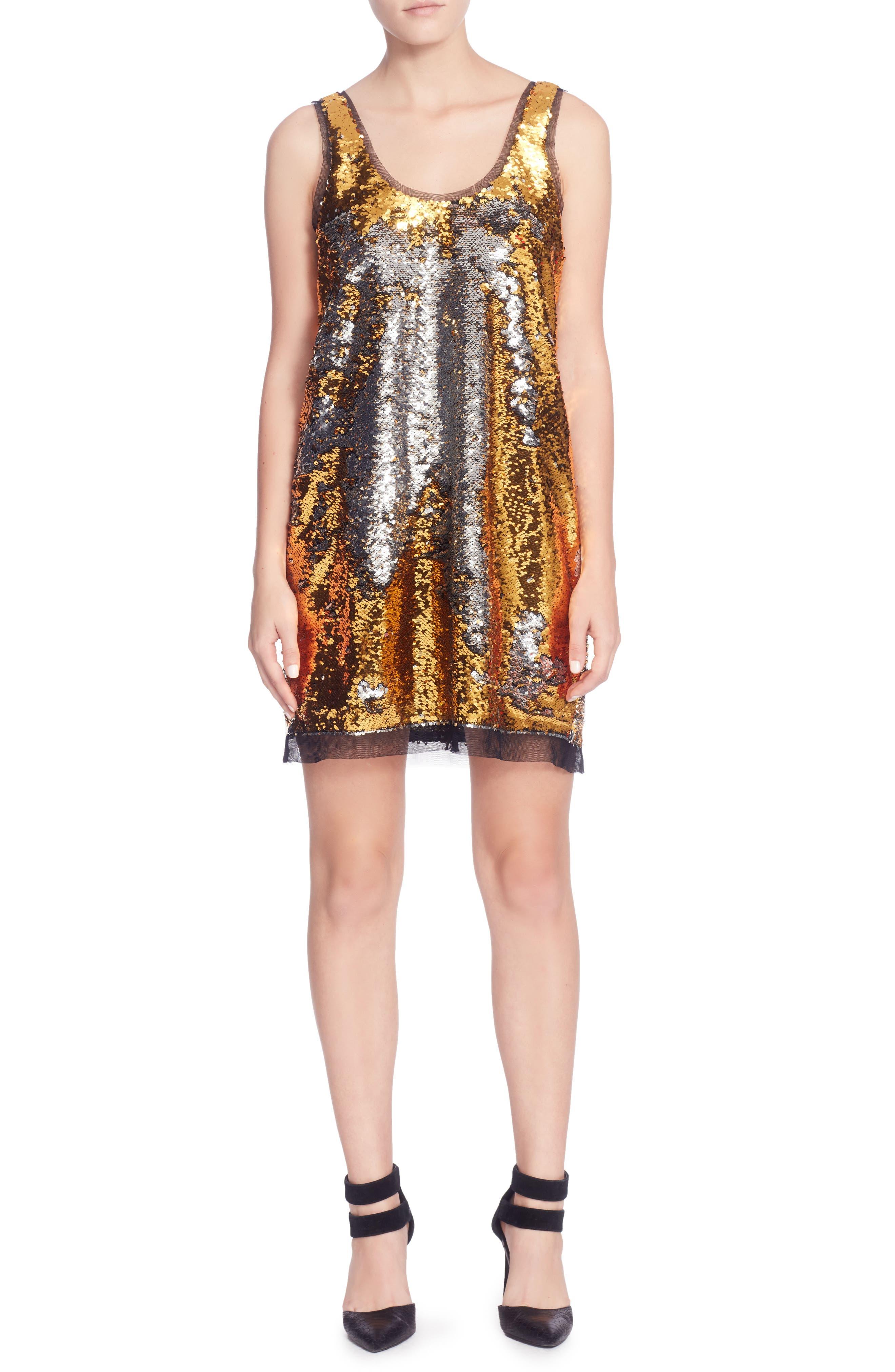 Louisa Dress,                             Main thumbnail 1, color,                             Gold