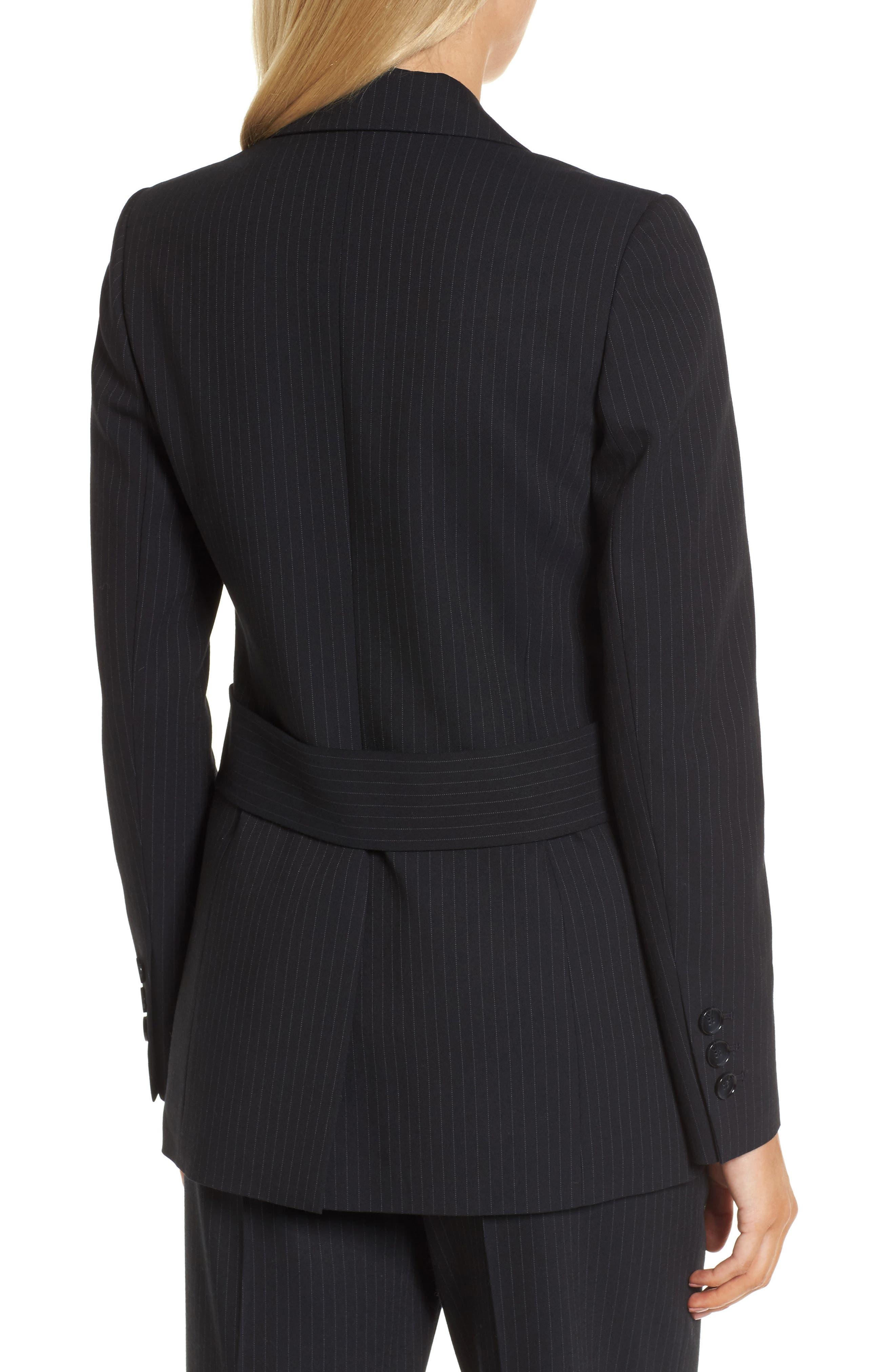 Pinstripe Suit Jacket,                             Alternate thumbnail 3, color,                             Navy Night Pinstripe