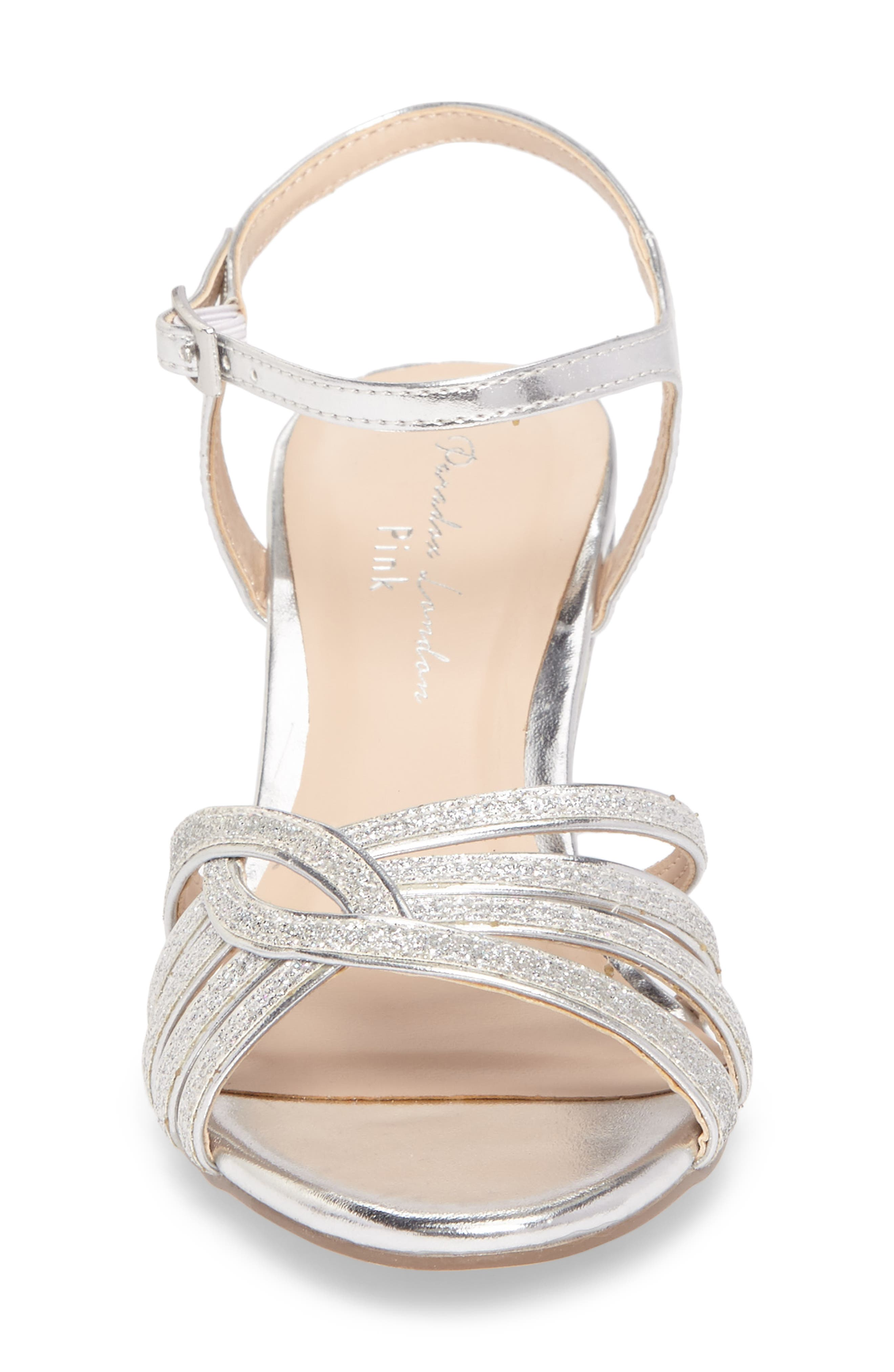 Karianne Wedge Sandal,                             Alternate thumbnail 4, color,                             Silver