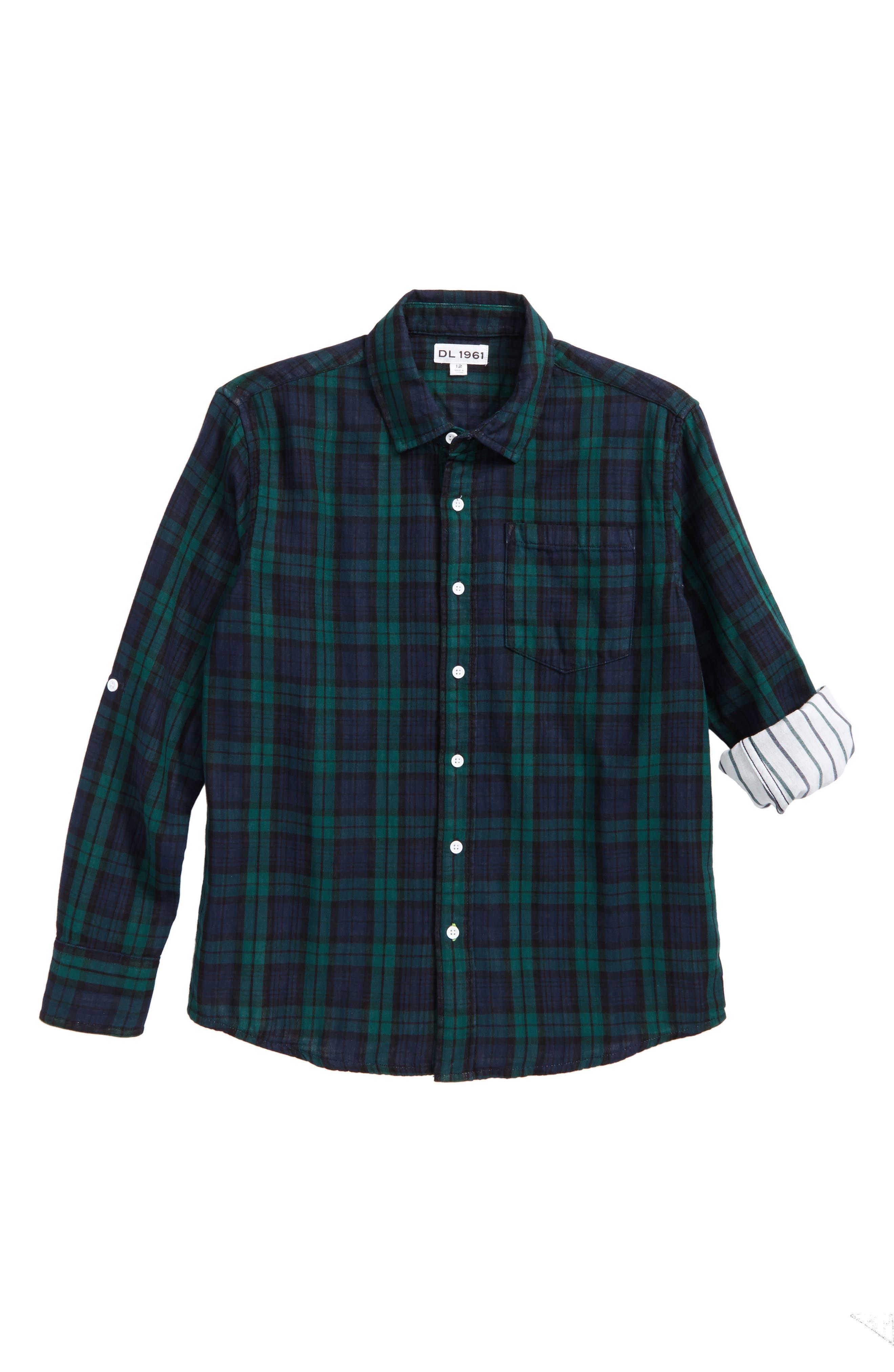 DL1961 Plaid Woven Shirt (Big Boys)