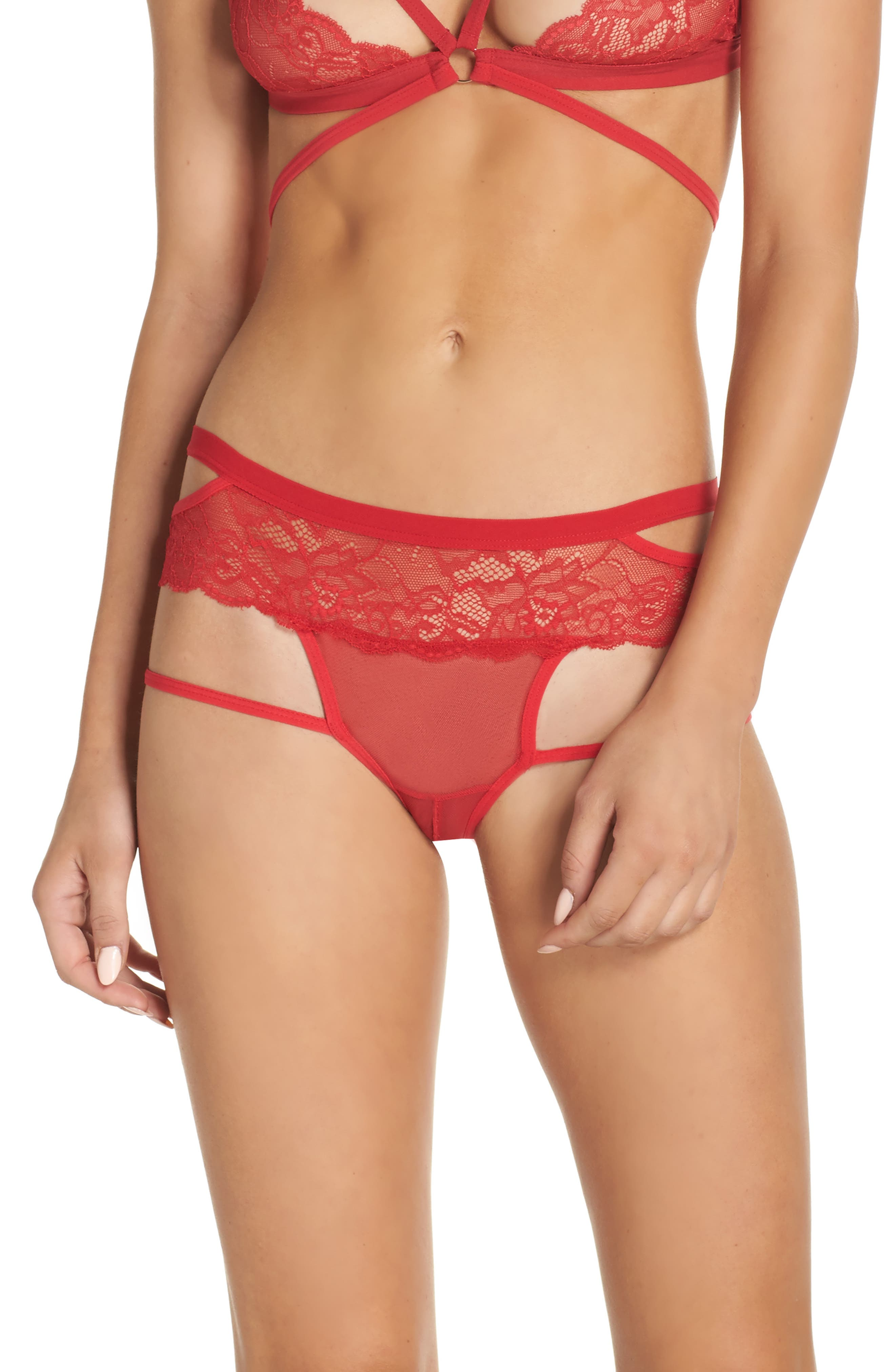 Alternate Image 1 Selected - Honeydew Intimates Lucy Open Gusset Briefs