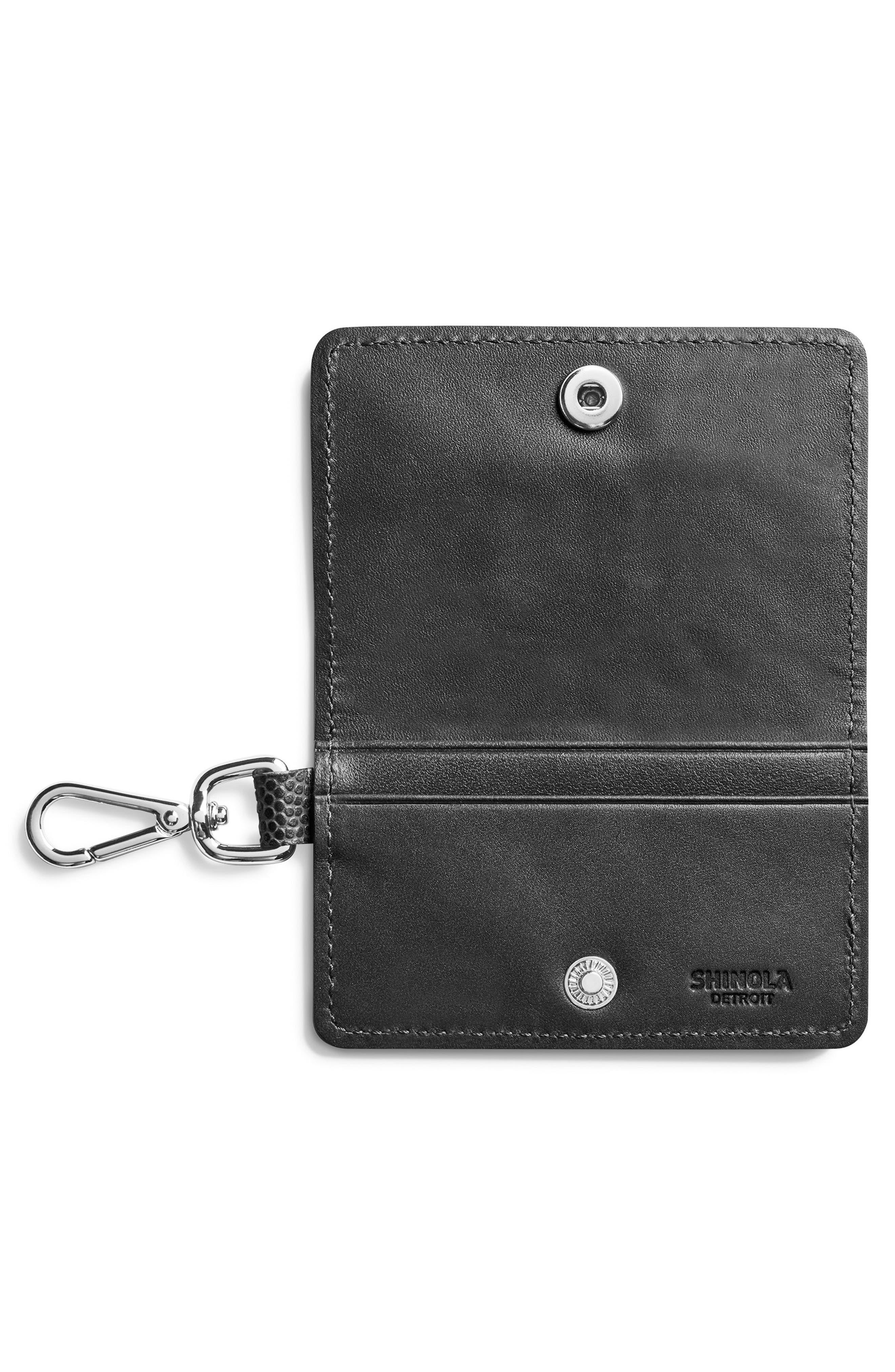 Latigo Leather Card Case,                             Alternate thumbnail 2, color,                             Black