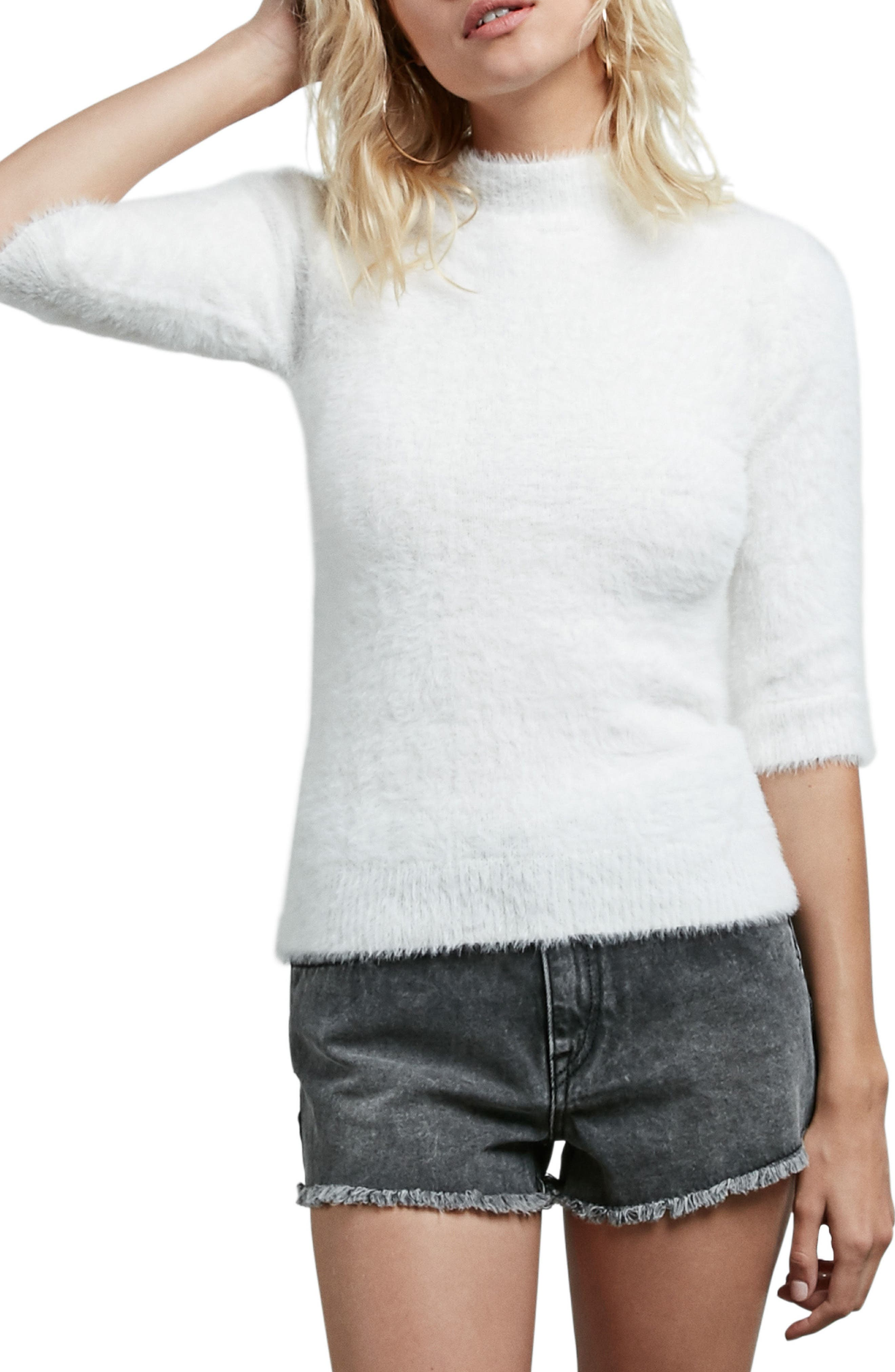Bunney Riot Sweater,                         Main,                         color, Star Wht