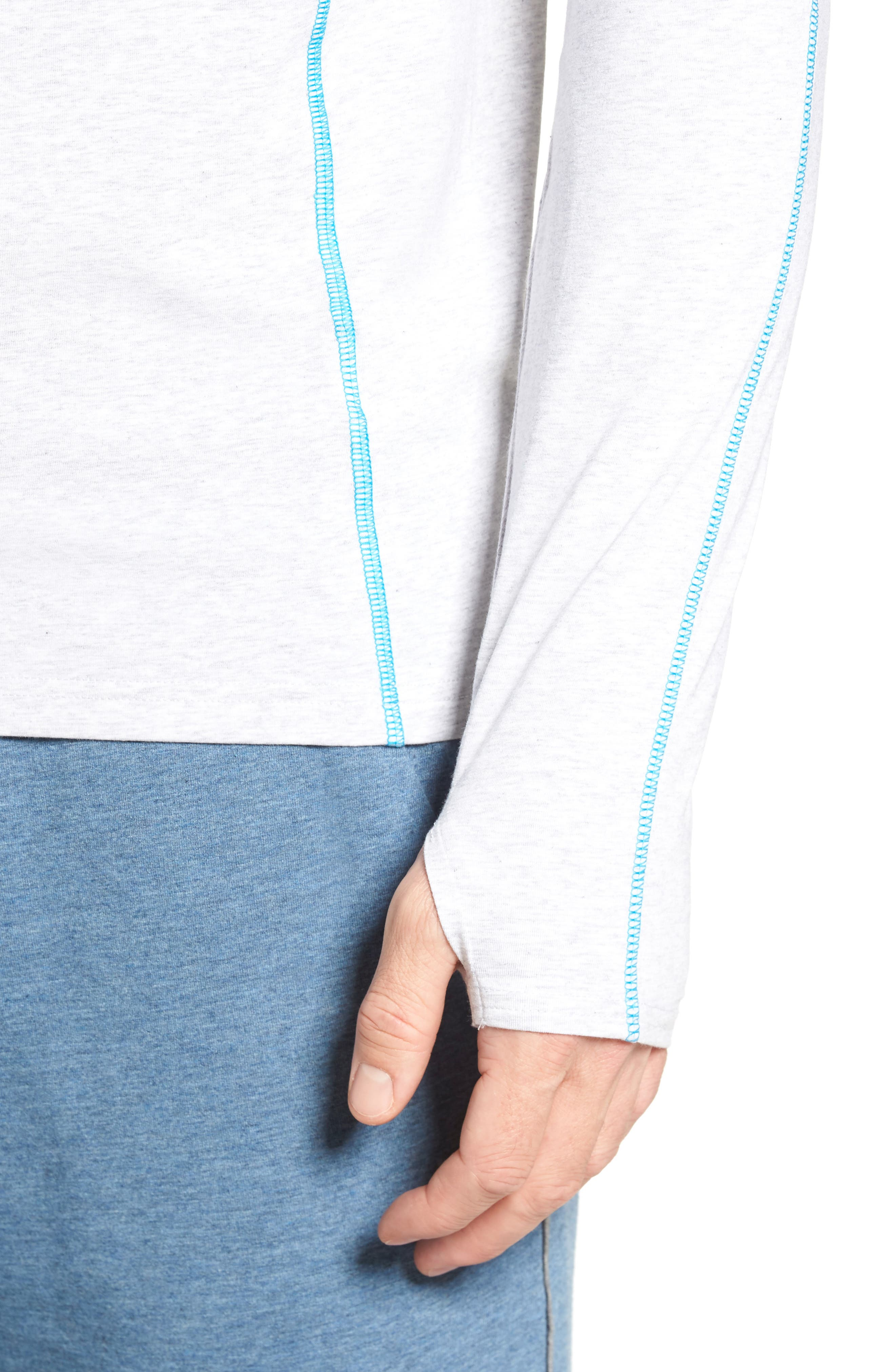 Charge Quarter-Zip Pullover,                             Alternate thumbnail 4, color,                             Light Heather Gray