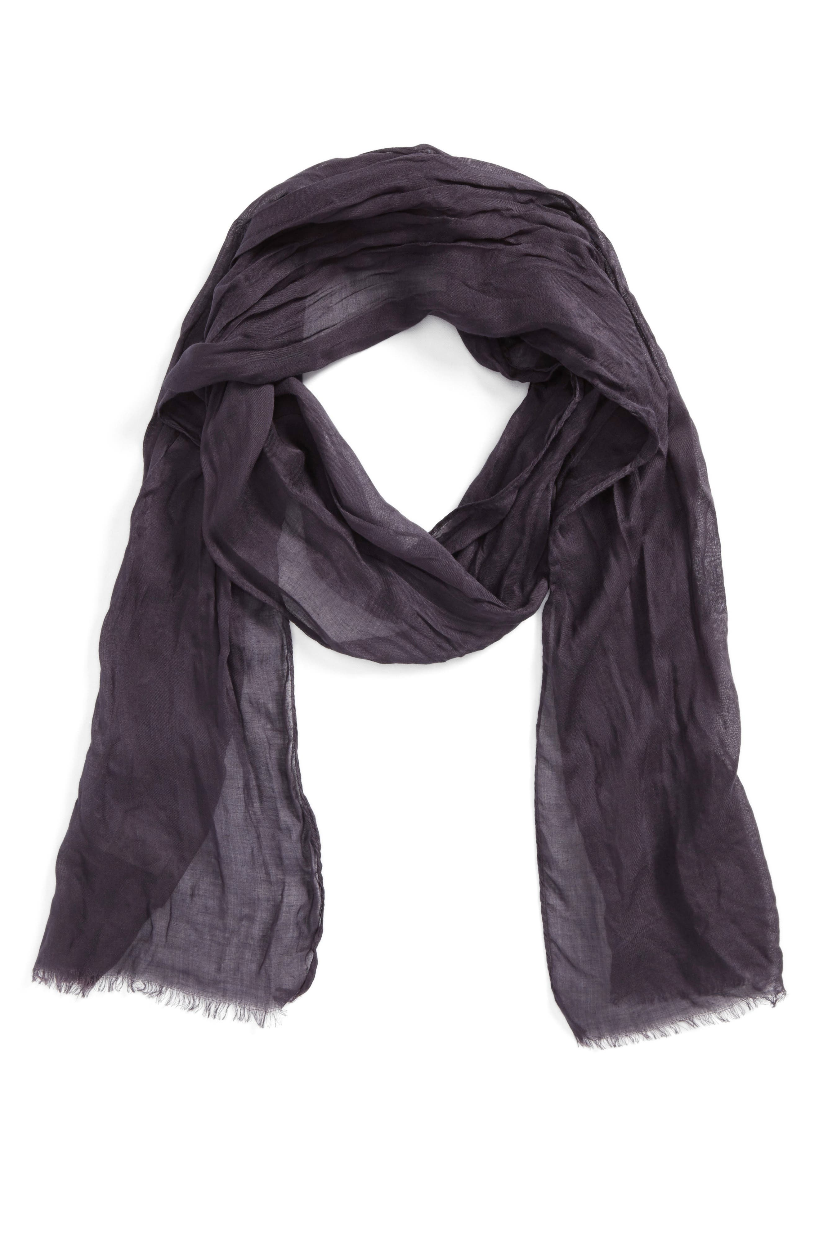 Crinkled Modal & Silk Scarf,                         Main,                         color, Mulberry