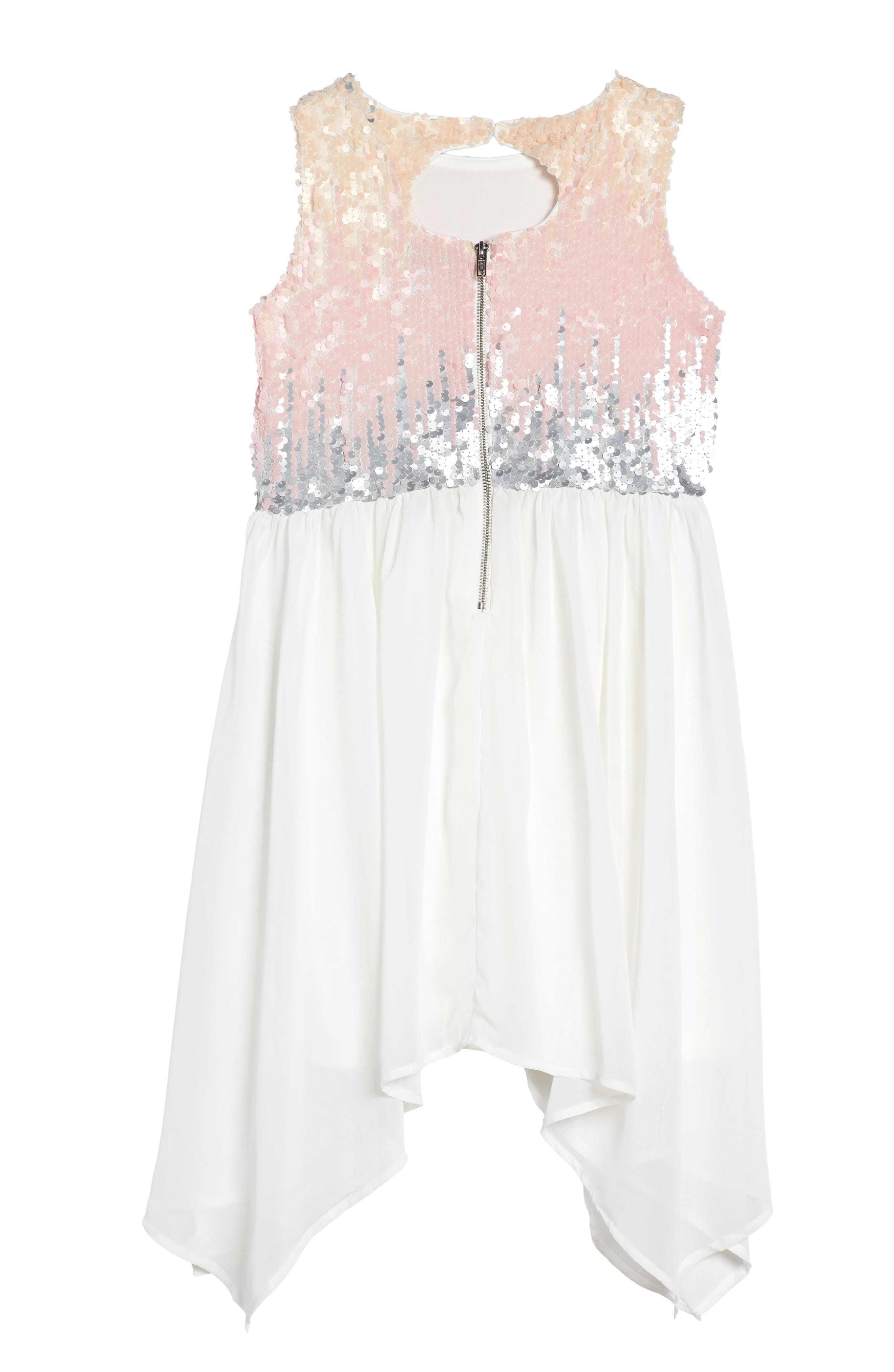Sequin Bodice Dress,                             Alternate thumbnail 2, color,                             Ivory