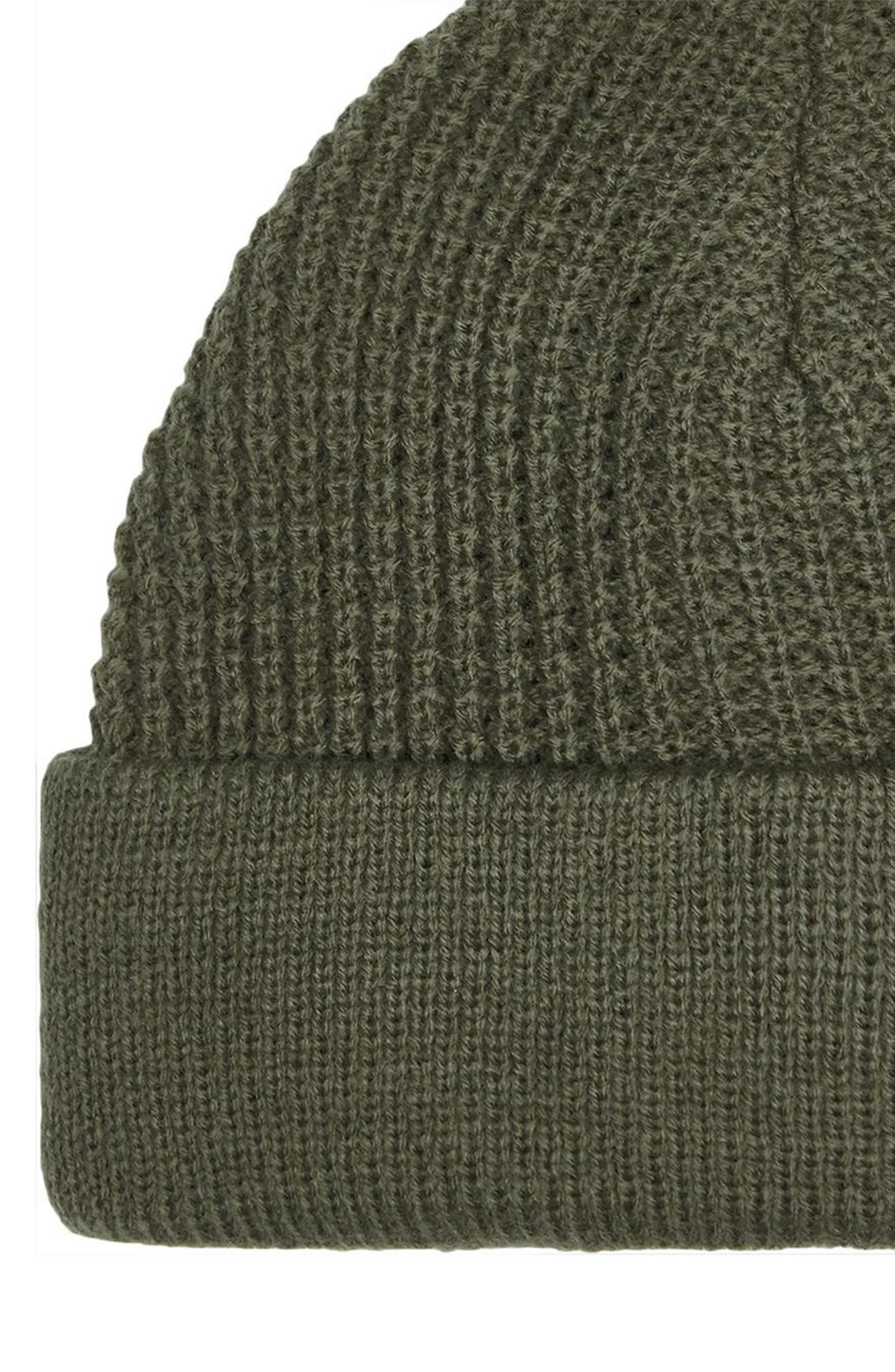 Knit Beanie,                             Alternate thumbnail 2, color,                             Olive