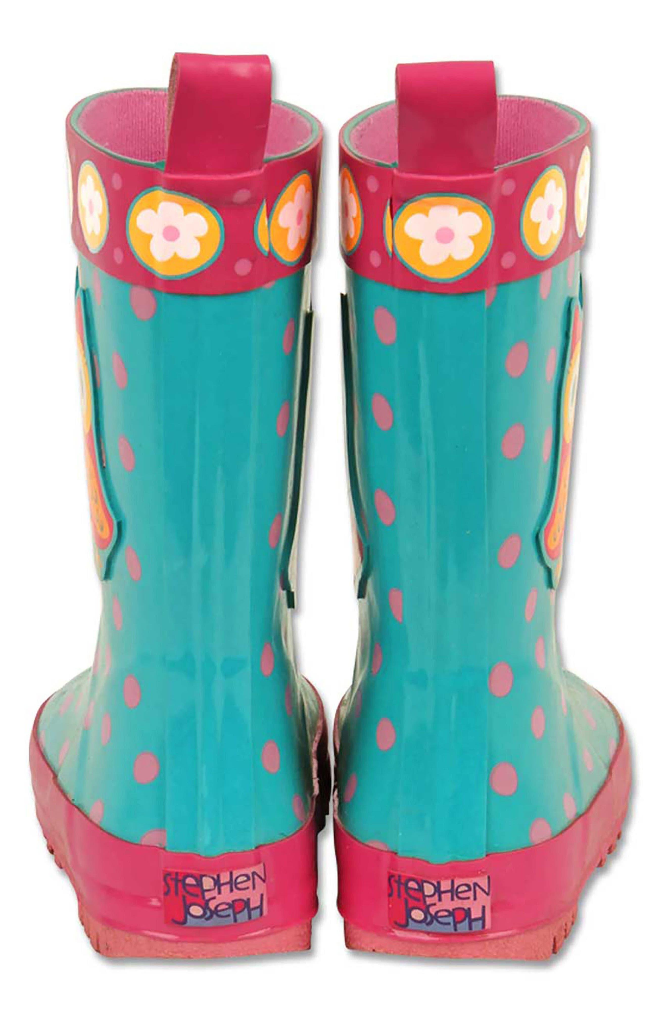Owl Rain Boots & Umbrella Set,                             Alternate thumbnail 4, color,                             Owl