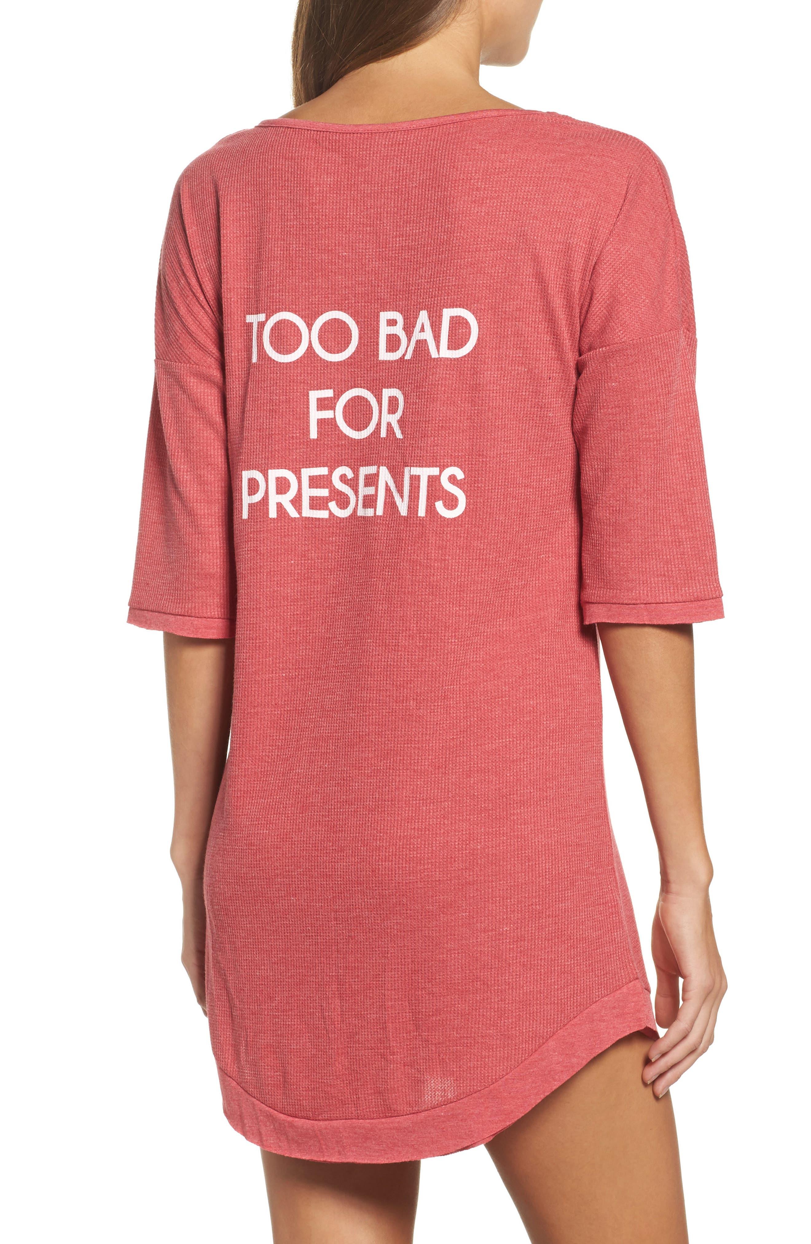 Sleep Shirt,                             Alternate thumbnail 2, color,                             Ruby