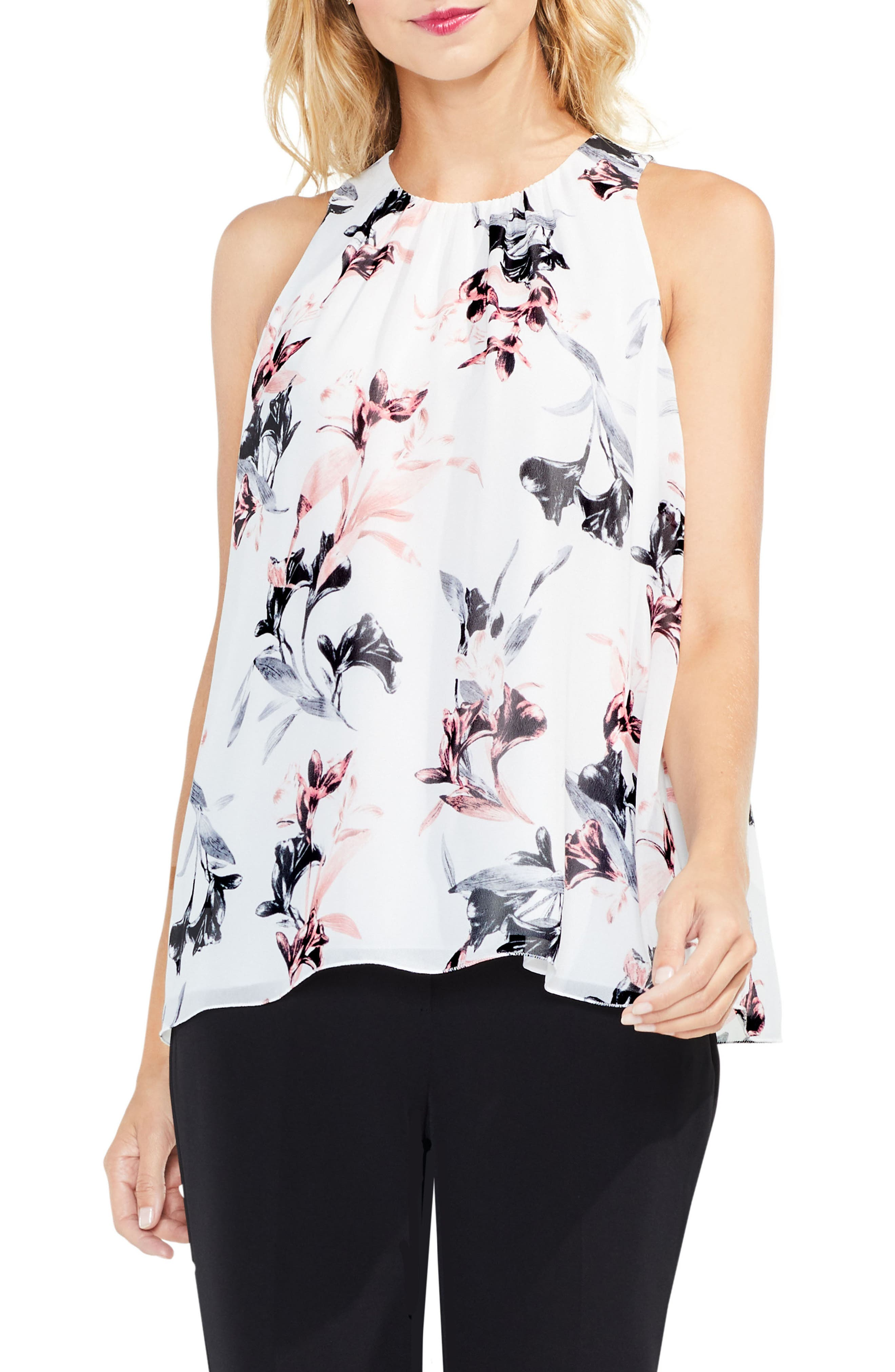 Lily Melody Sleeveless Blouse,                         Main,                         color, New Ivory