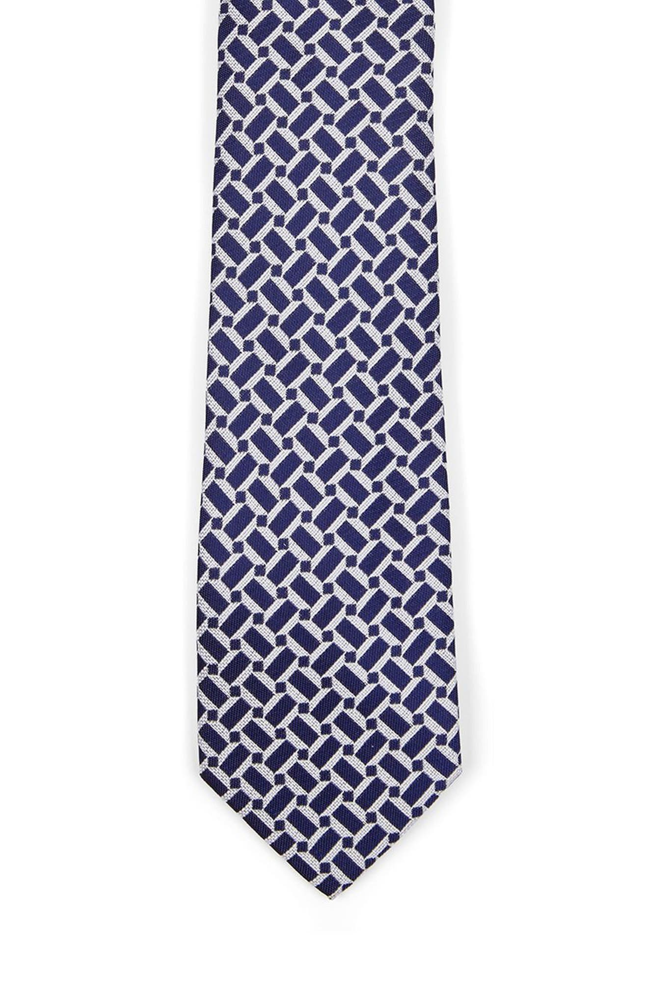 Geo Print Woven Tie,                             Alternate thumbnail 2, color,                             Blue Multi