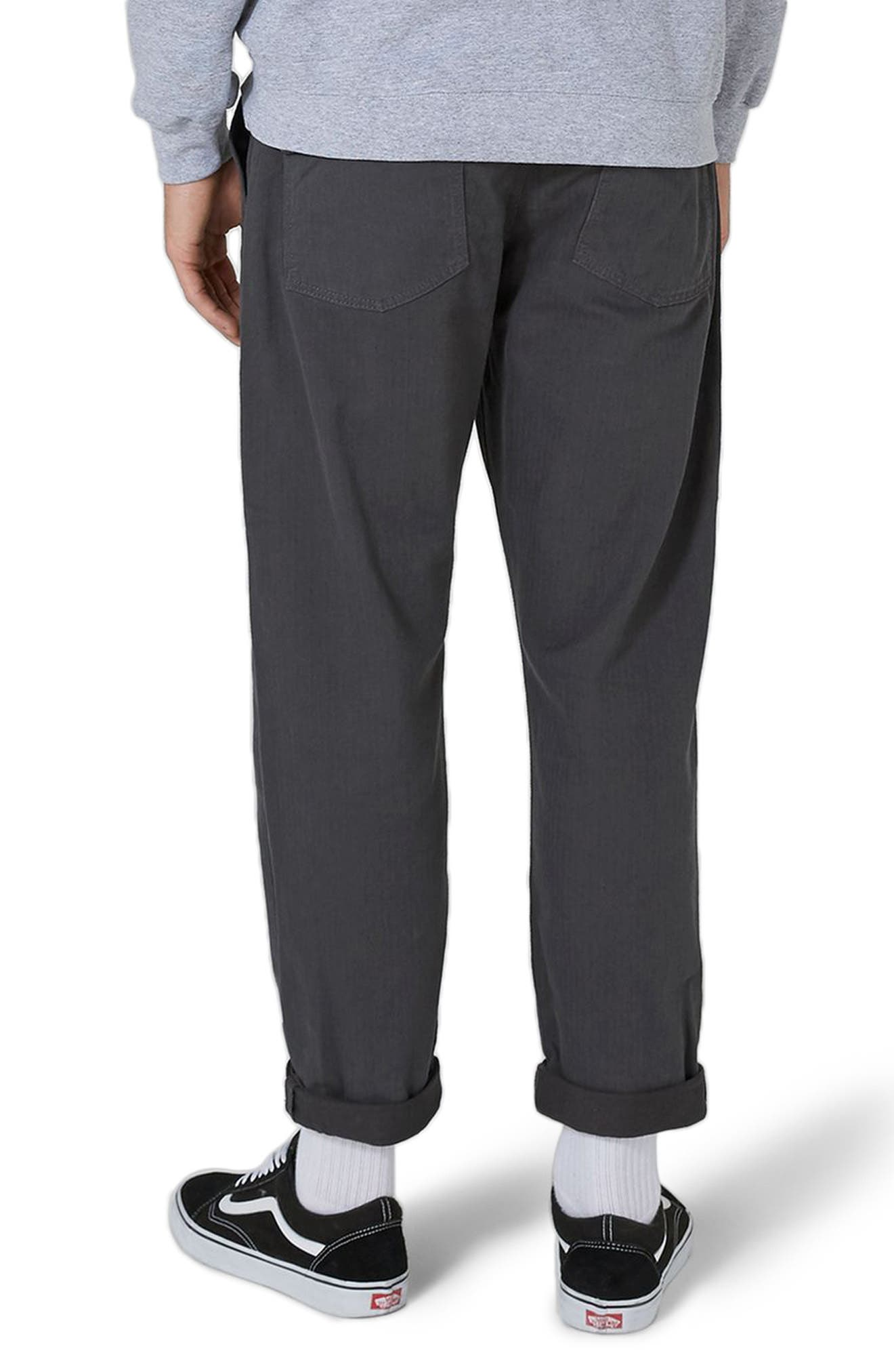 Alternate Image 2  - Topman Original Fit Herringbone Trousers