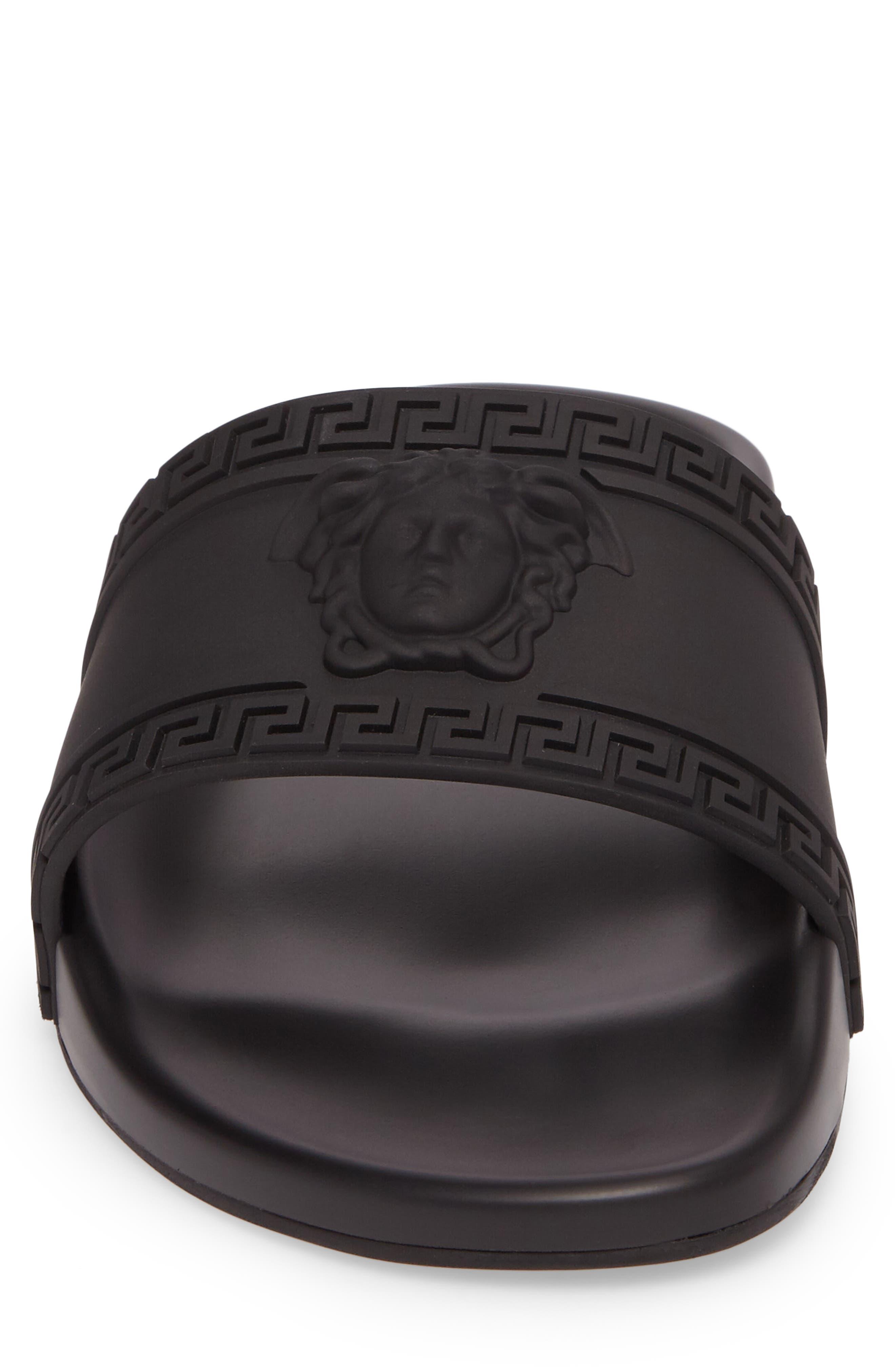 Palazzo Medusa Slide Sandal,                             Alternate thumbnail 4, color,                             Black