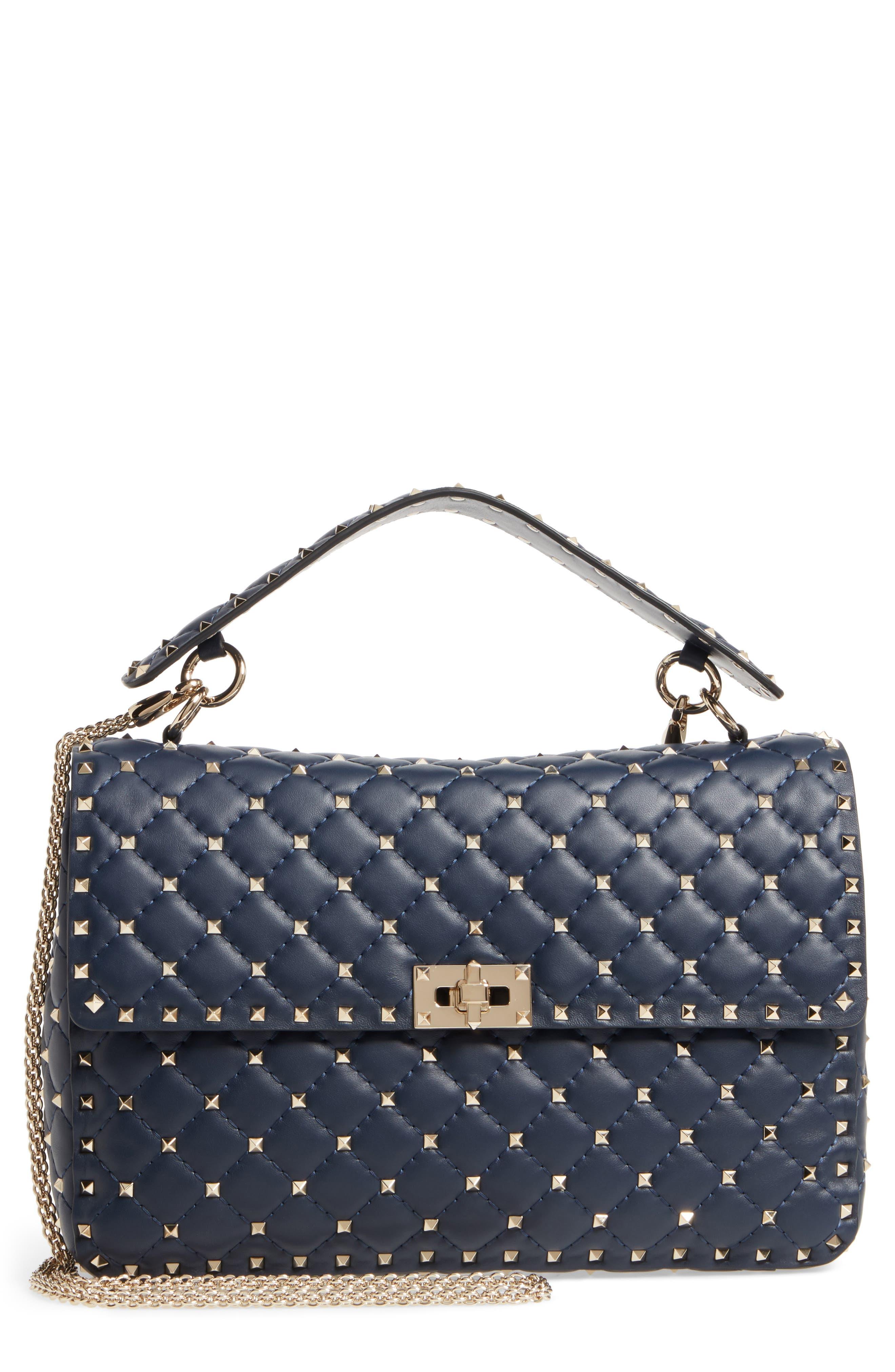 VALENTINO GARAVANI Large Rockstud Matelassé Quilted Leather Shoulder Bag